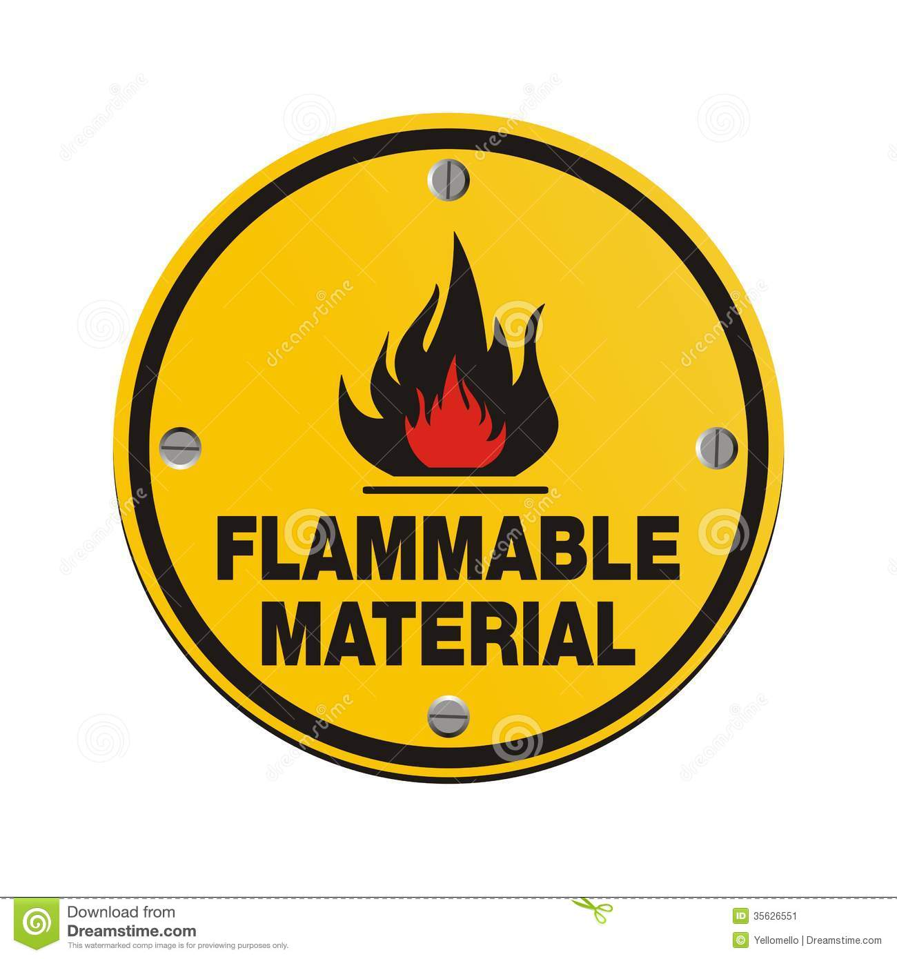 Round sign flammable material stock illustration illustration round sign flammable material buycottarizona