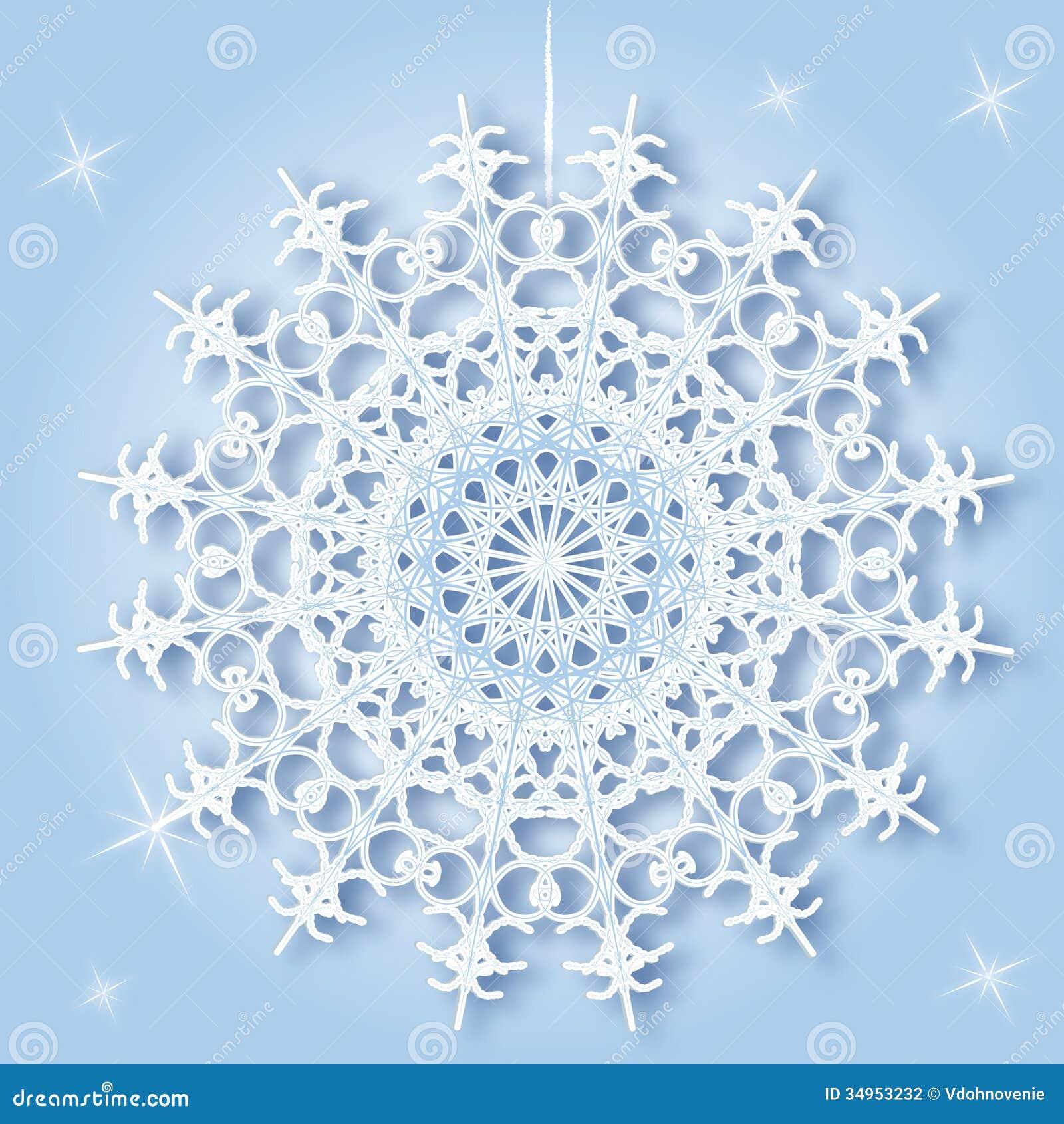 Round snowflake stock photography image
