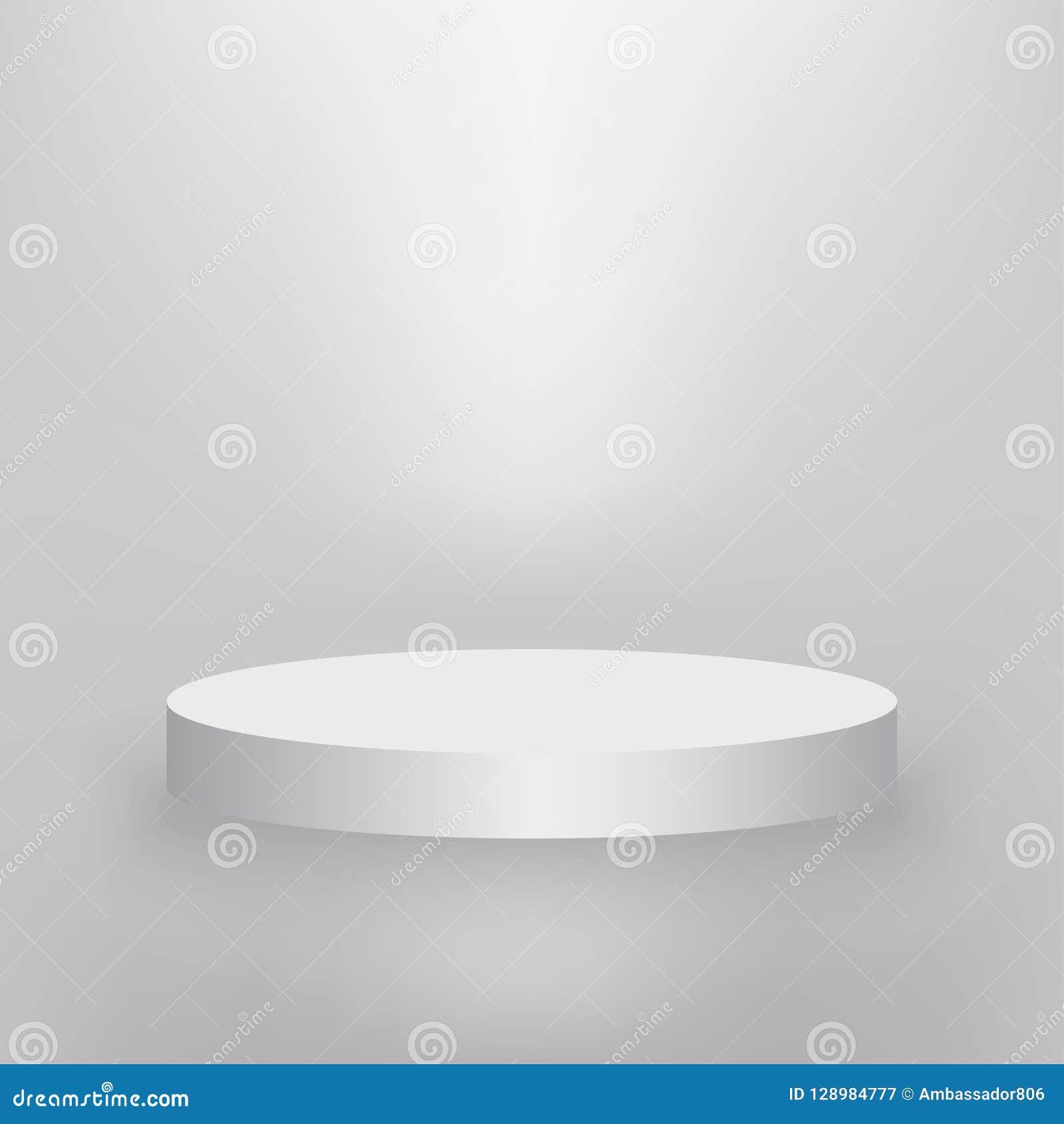 product presentation podium white stage empty white pedestal