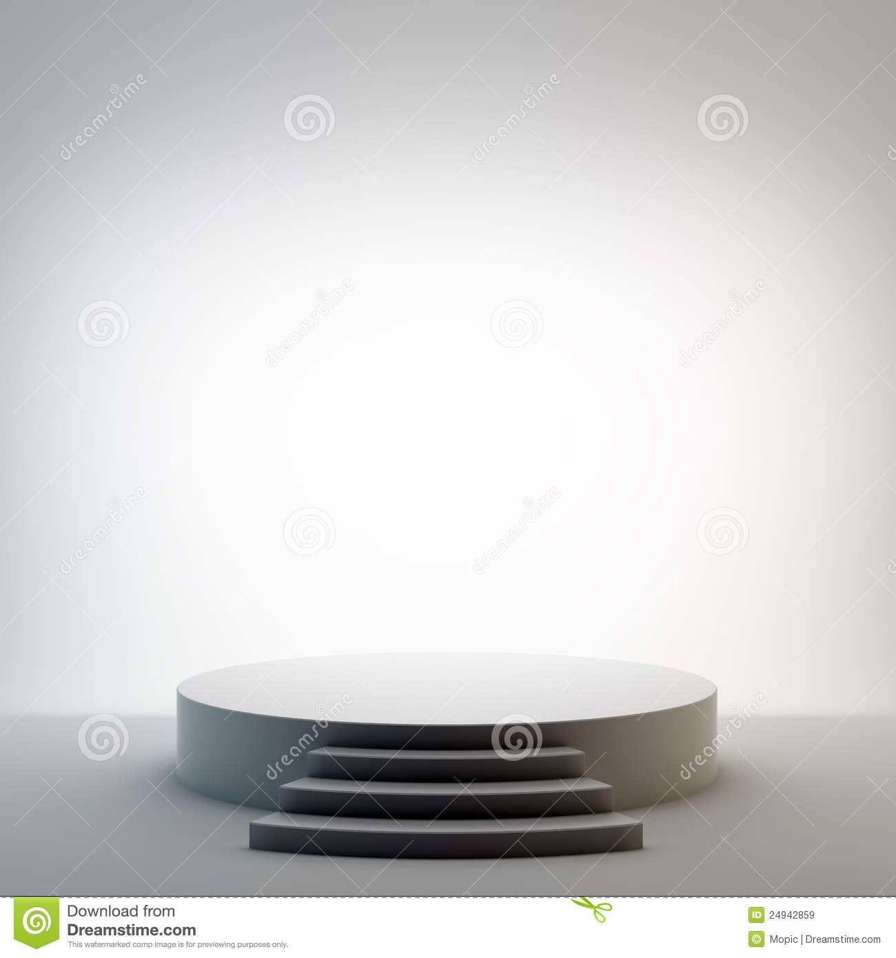 Round Stage Set Royalty Free Stock Images Image 24942859