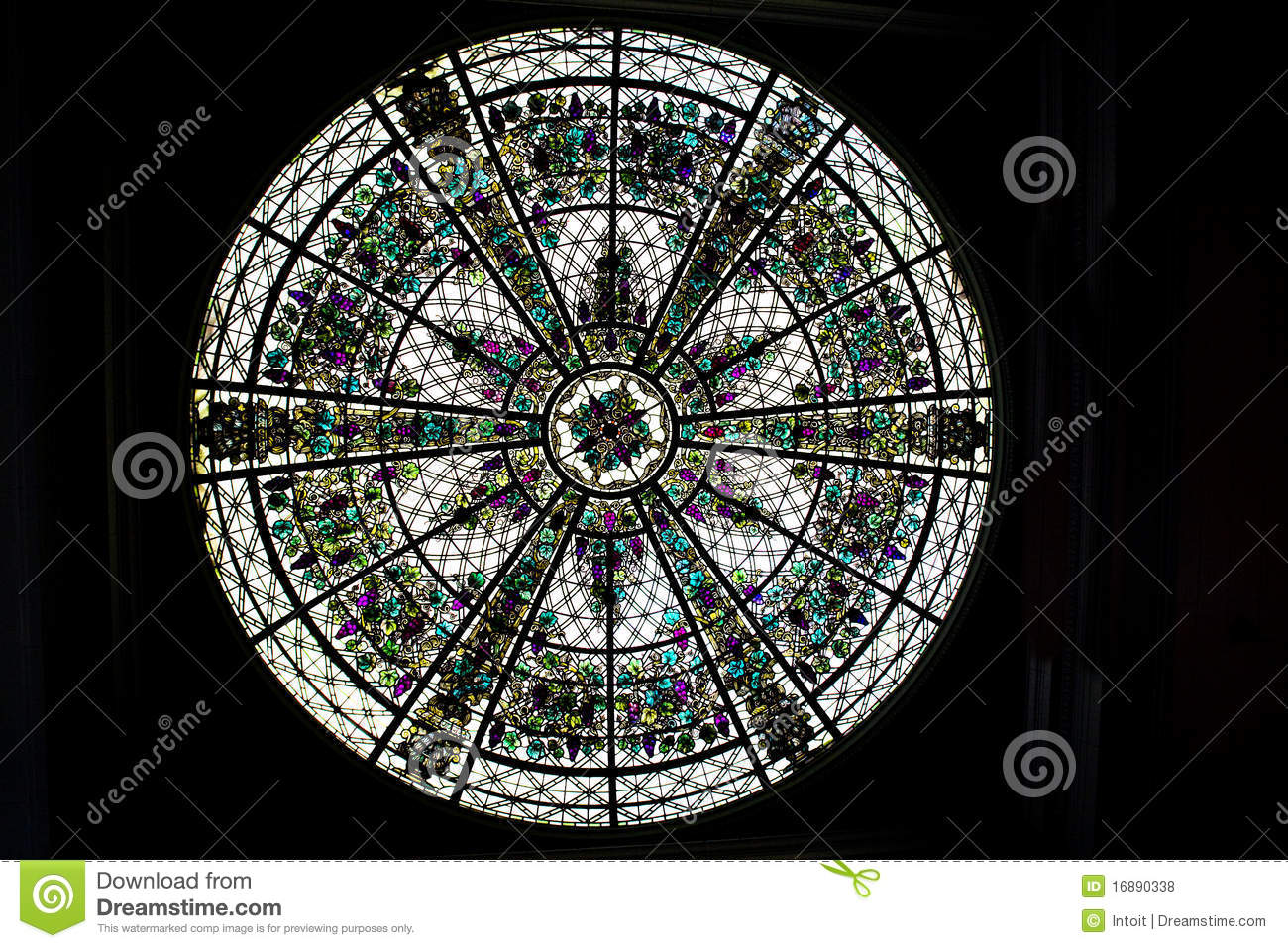 Round Stained Glass Window Royalty Free Stock s