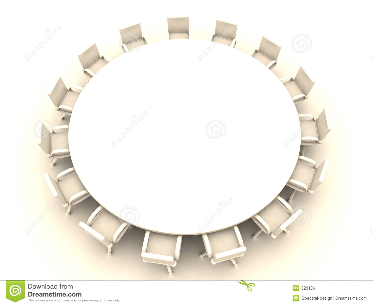Round table 1 royalty free stock image image 523136