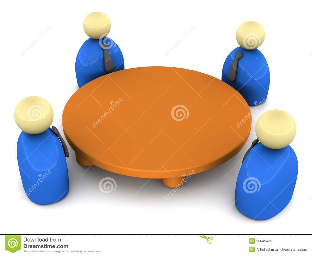 Round table meeting icon - Business Conference Meeting Round Table
