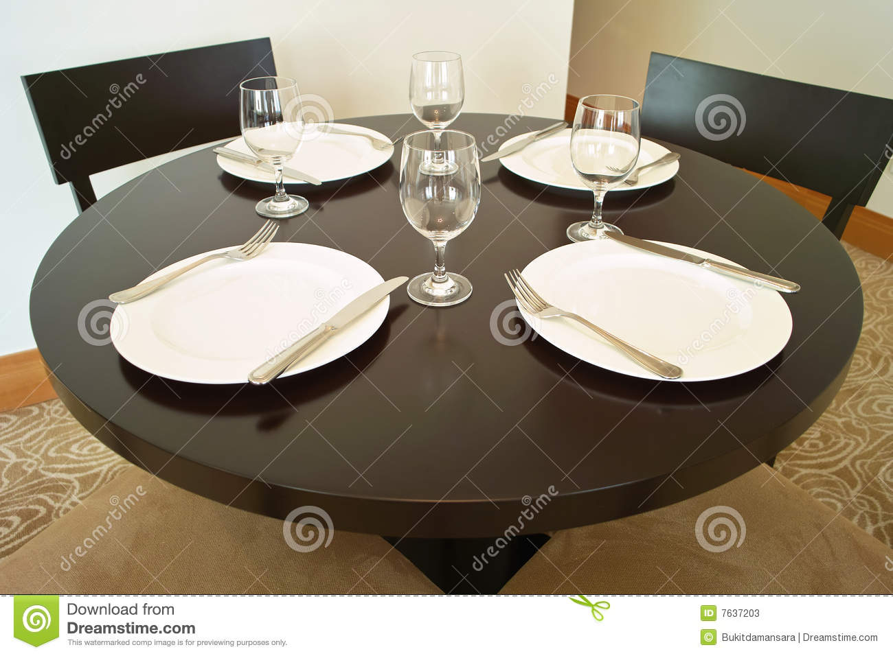 Round Table With Plates amp Glass Stock Photos Image 7637203 : round table plates glass 7637203 from dreamstime.com size 1300 x 956 jpeg 123kB