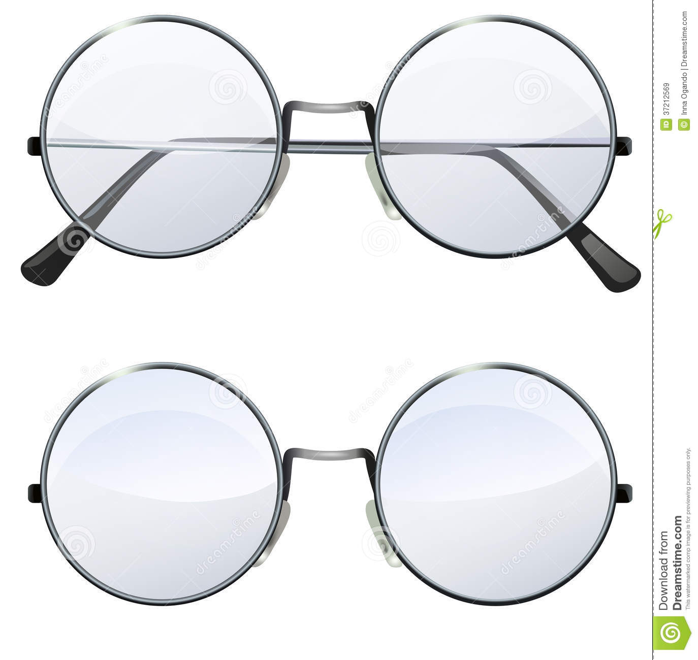 S Scientist Round Glasses