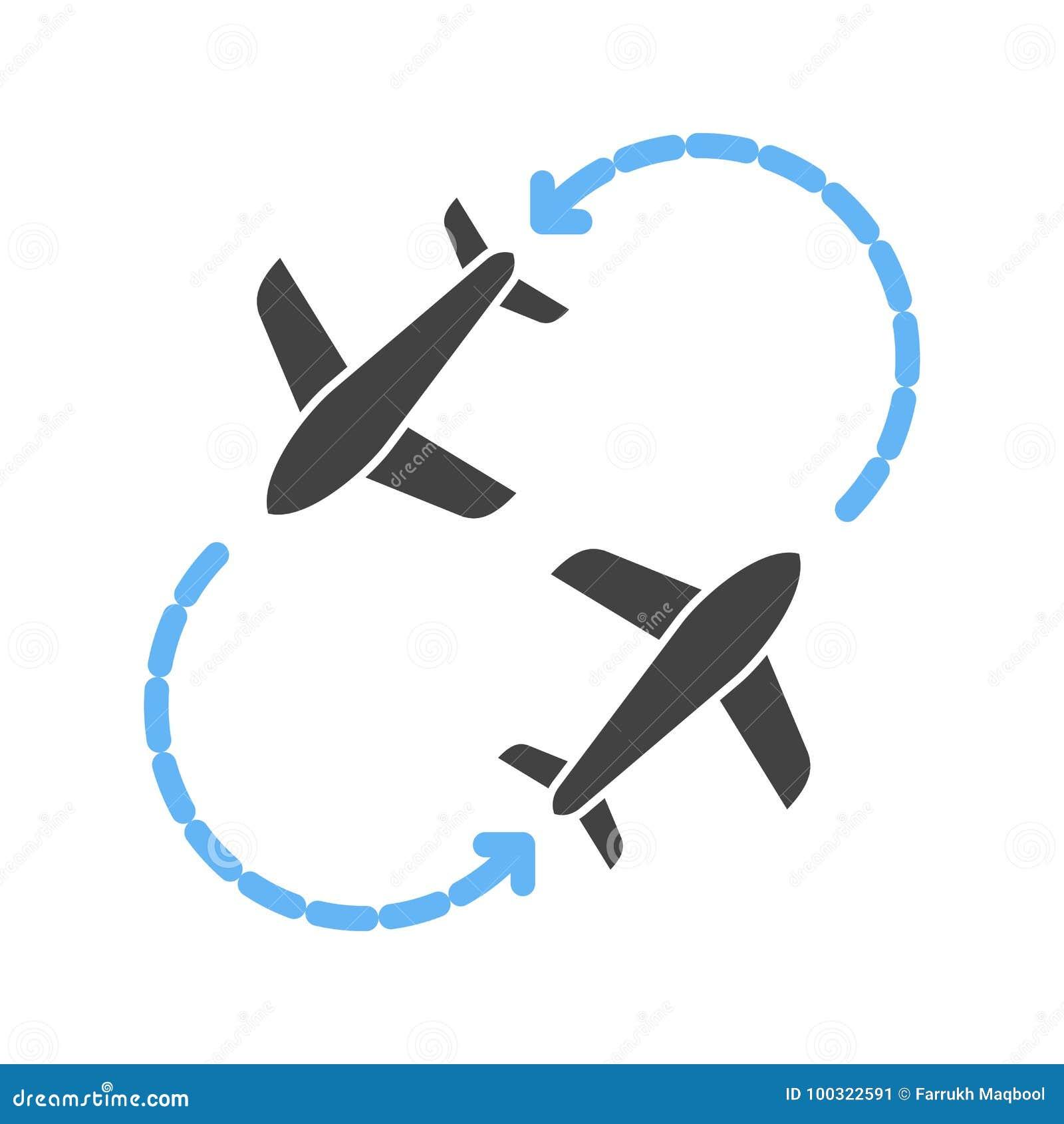 Download Round Travel Flights Stock Vector Illustration Of Design