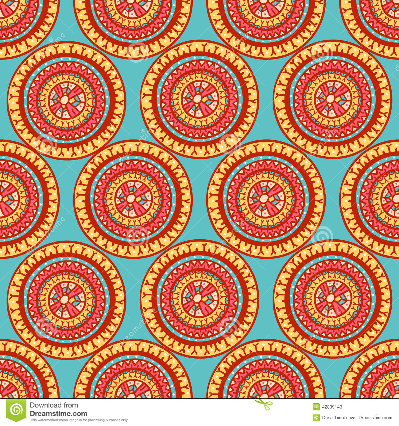 Round Tribal Patterns Stock Vector - Image: 42839143