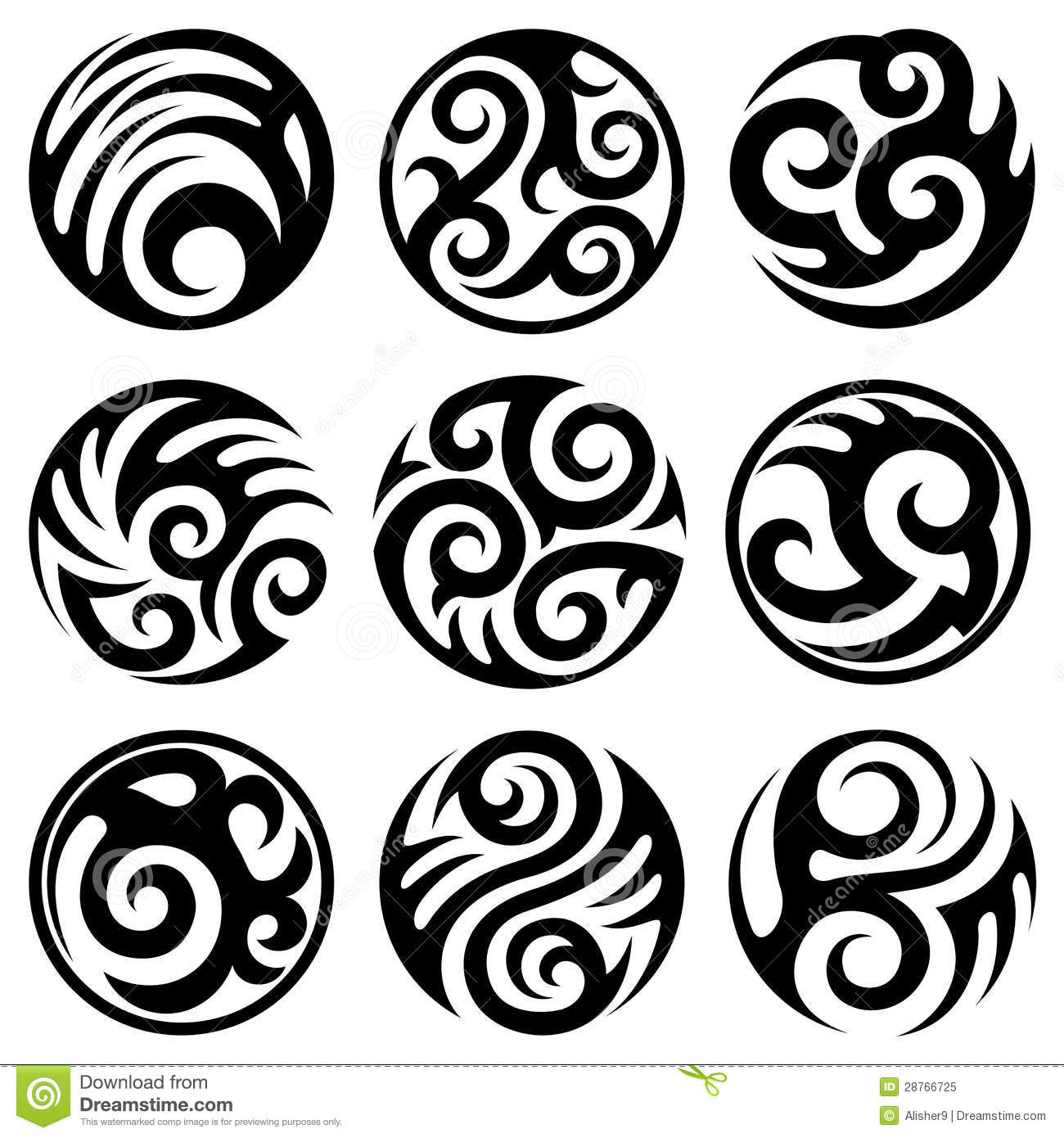 round tribal tattoos set stock illustrations 44 round tribal rh dreamstime com Indian Tribal Tattoos Indian Tribal Tattoos