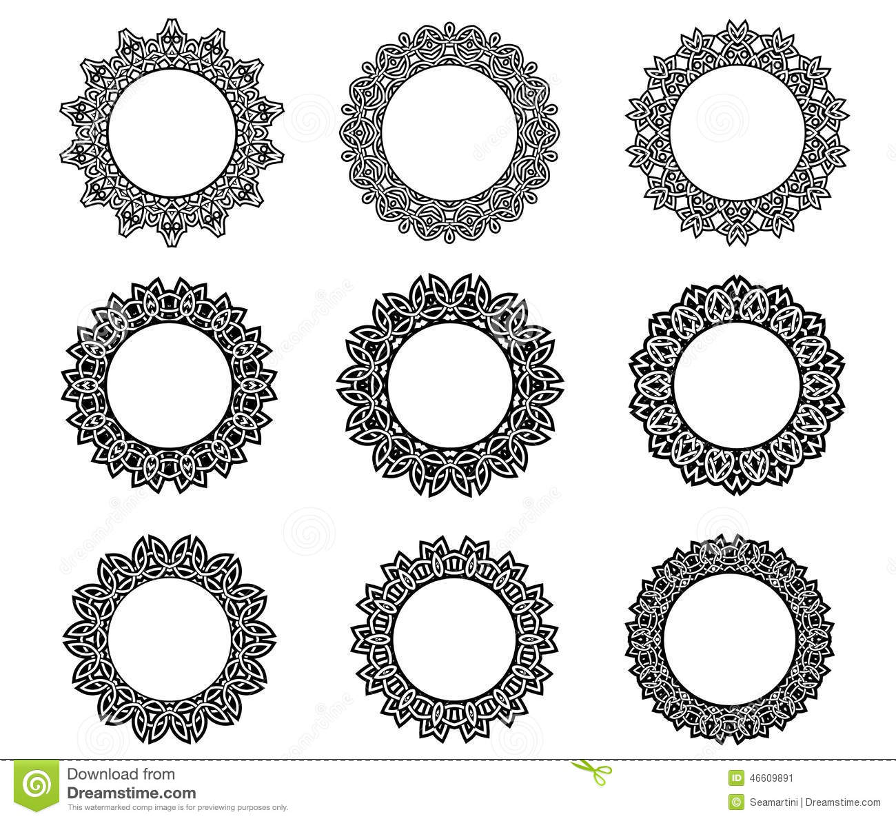 ... black and white and central copyspace, vector illustration on white