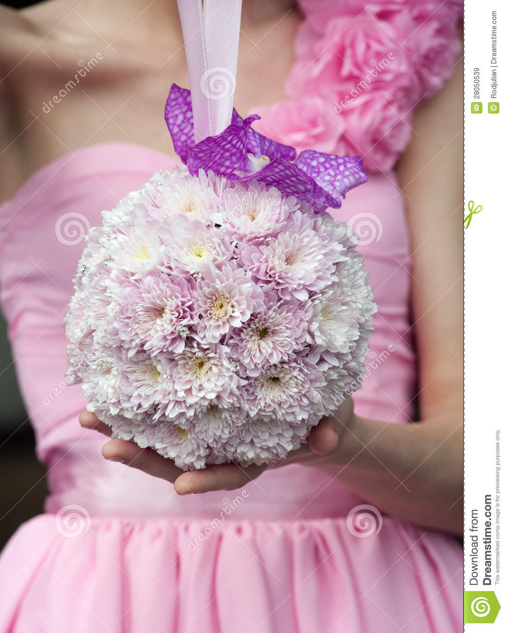 round wedding bouquet wedding bouquet with pink flowers royalty free stock 7144