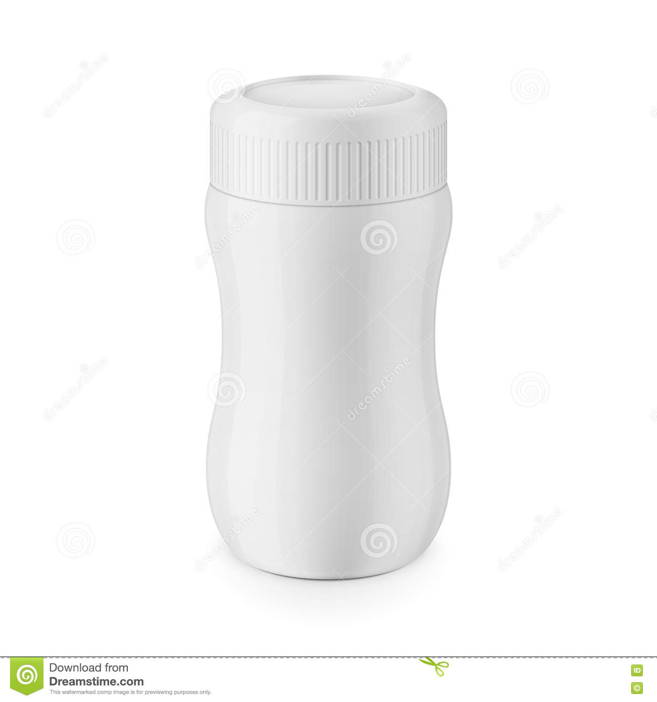 Round White Glossy Plastic Jar Template Stock Vector - Illustration ...