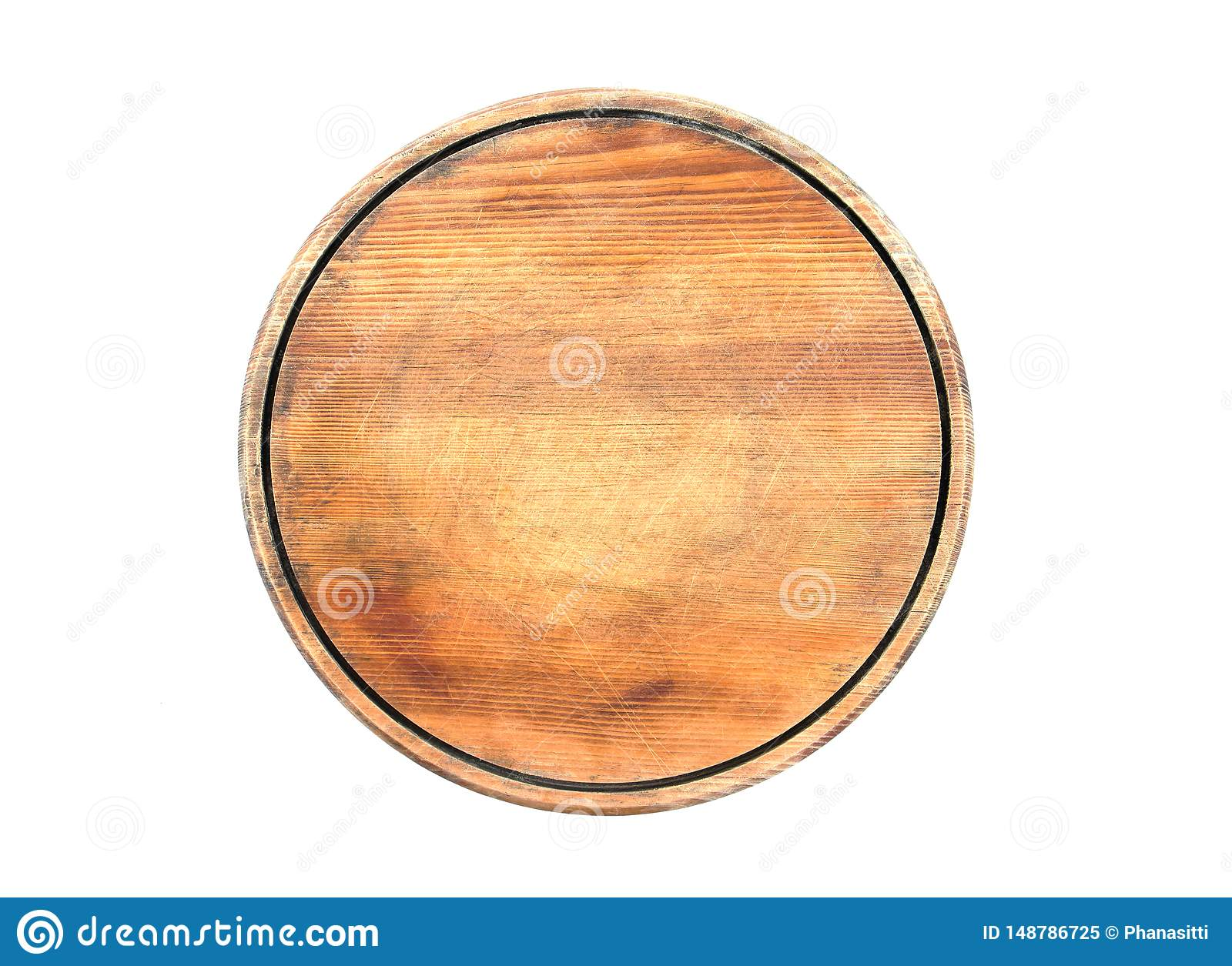 Round Wood Cutting Board Isolated On White Background Round Wooden Chopping Board Isolated Stock Image Image Of Dish Ware 148786725