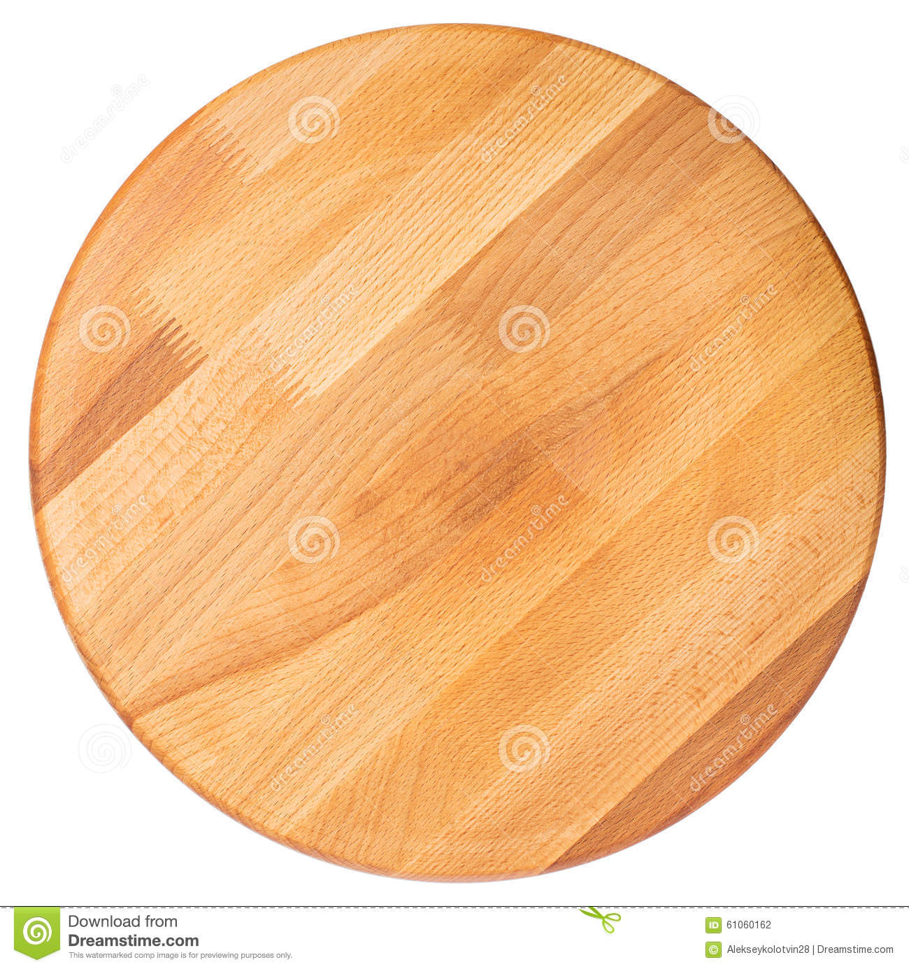 round wooden cutting board. top view stock photo  image, Kitchen design