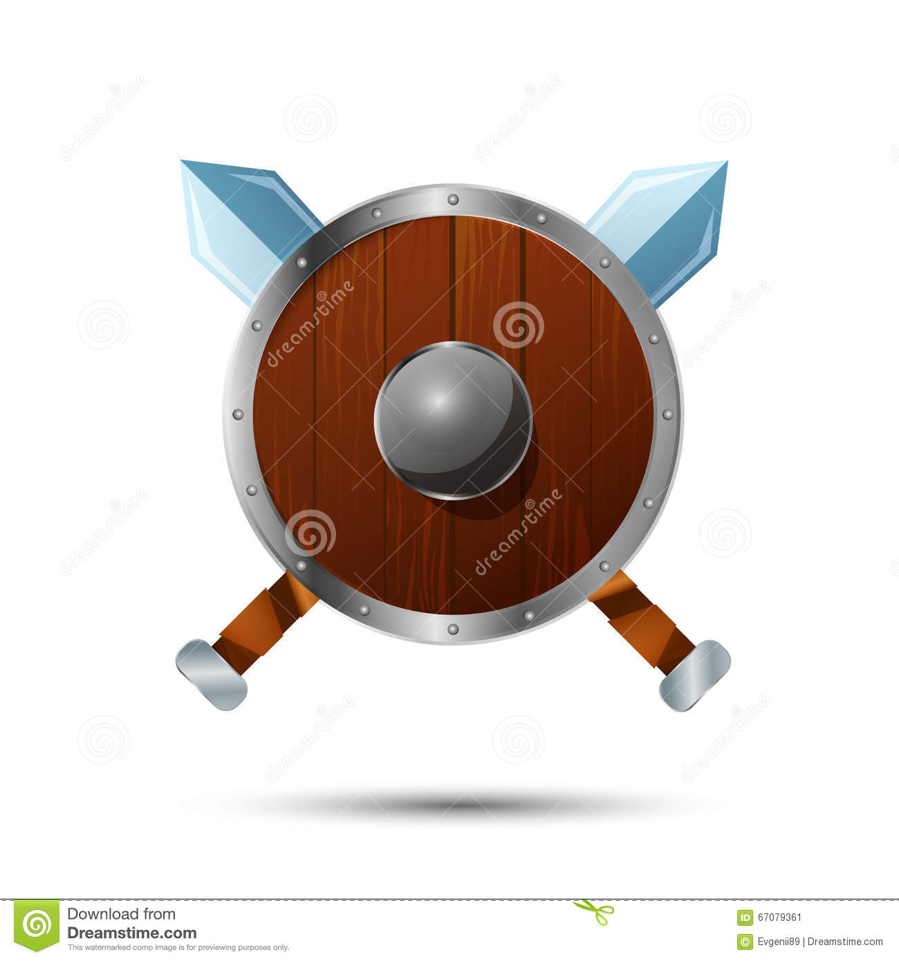 round wooden shield with crossed swords cartoon vector Conference Room Tables and Chairs Conference Room Chairs with Arms