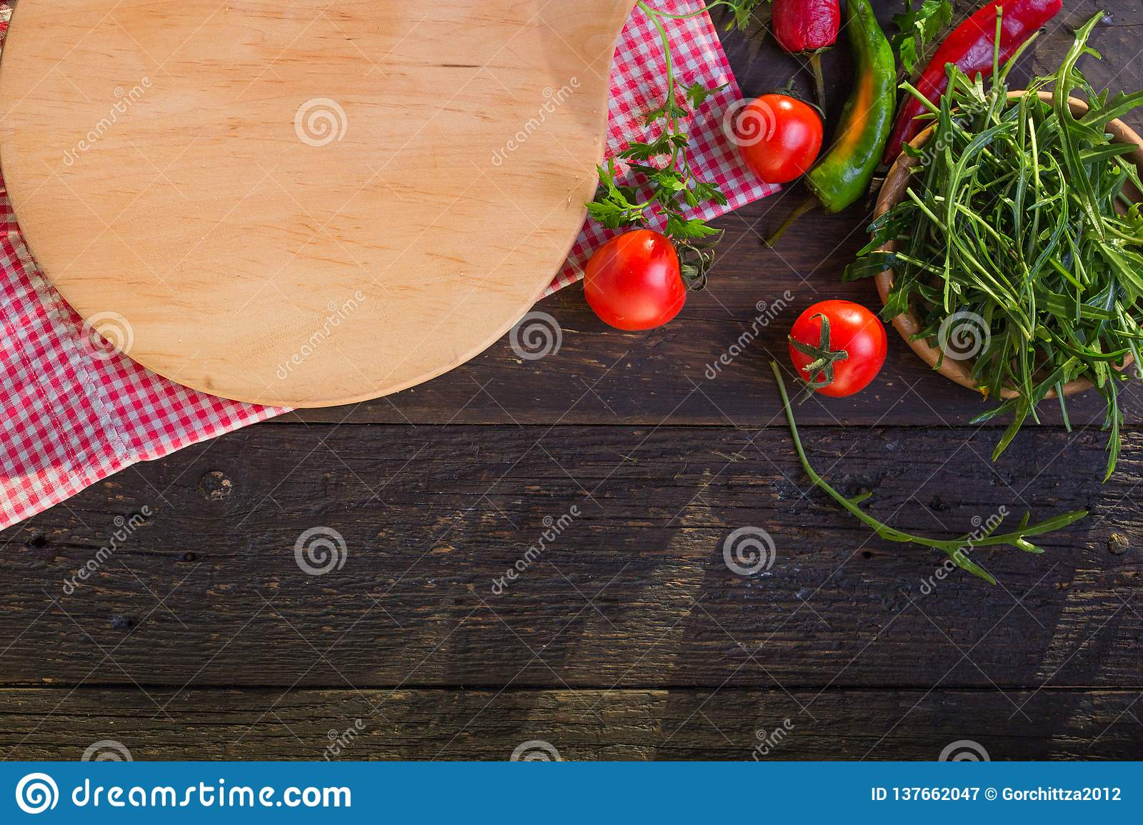 Round Wooden Tray Or Cutting Board On Black Table Top View Of Empty Kitchen Trendy Rustic Wooden Tray Saw Cut Imitation On Black Stock Image Image Of Board Black 137662047