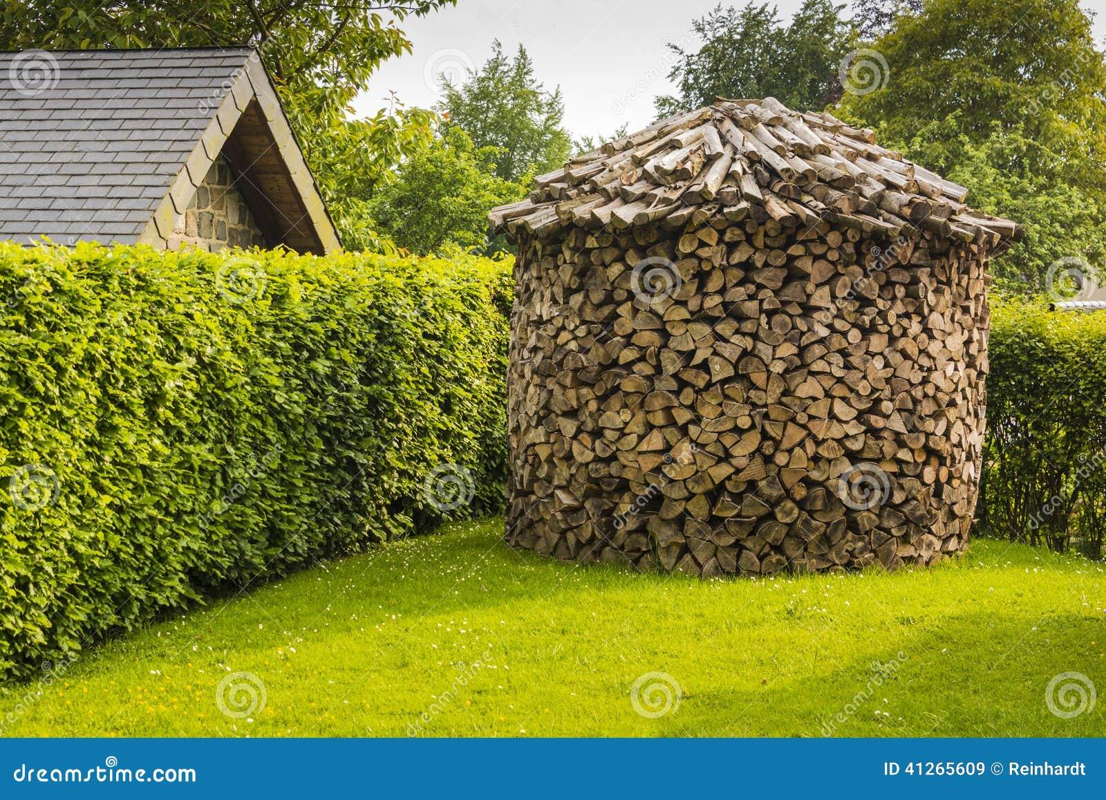 Round Woodpile Stock Photo Image 41265609