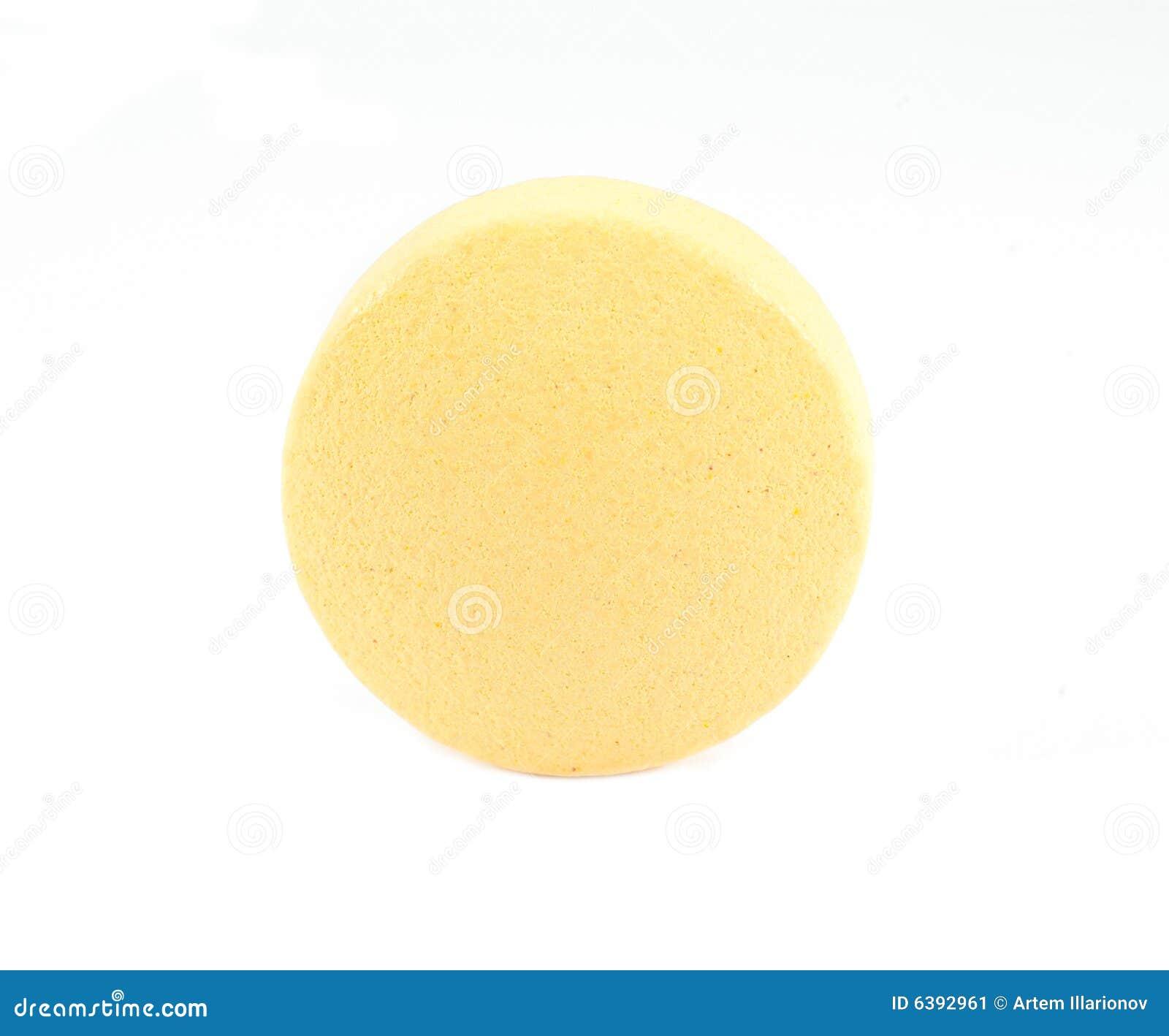 Round Yellow Pill Stock Image - Image: 6392961
