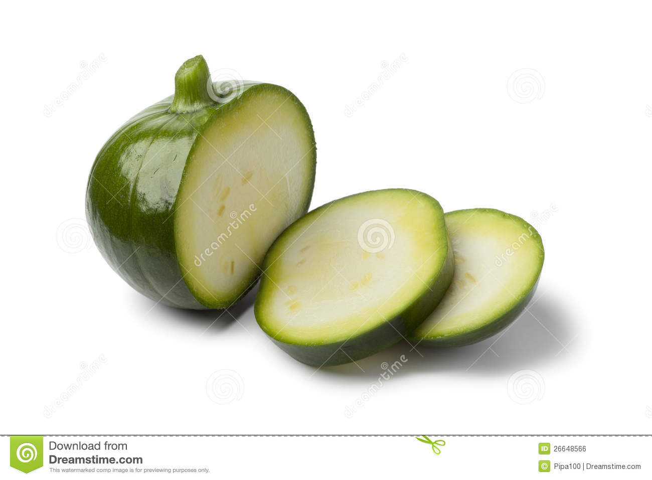 round zucchini with slices royalty free stock image image 26648566. Black Bedroom Furniture Sets. Home Design Ideas