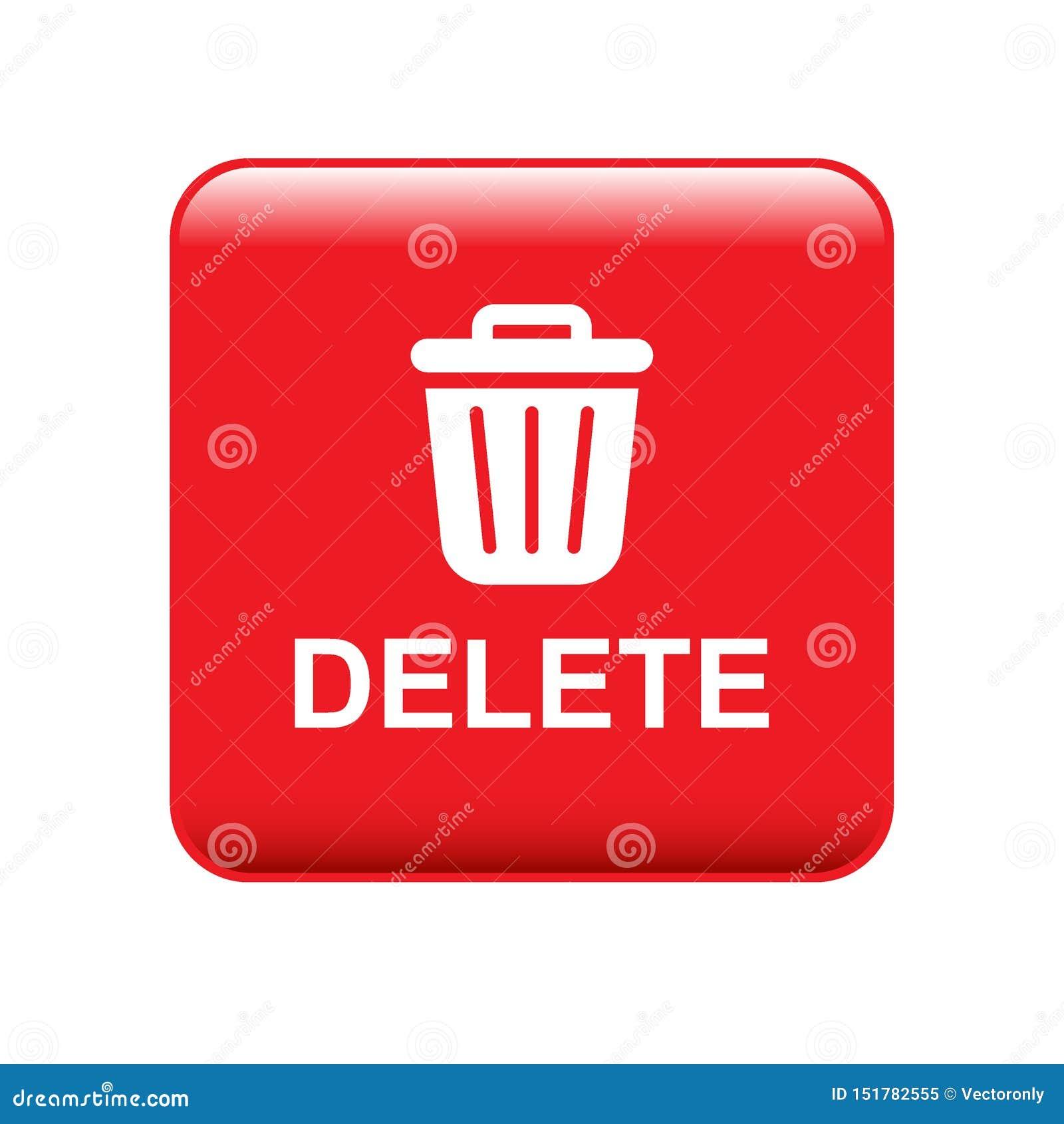 Close, delete, remove, trash icon |Delete Trash Button Icon
