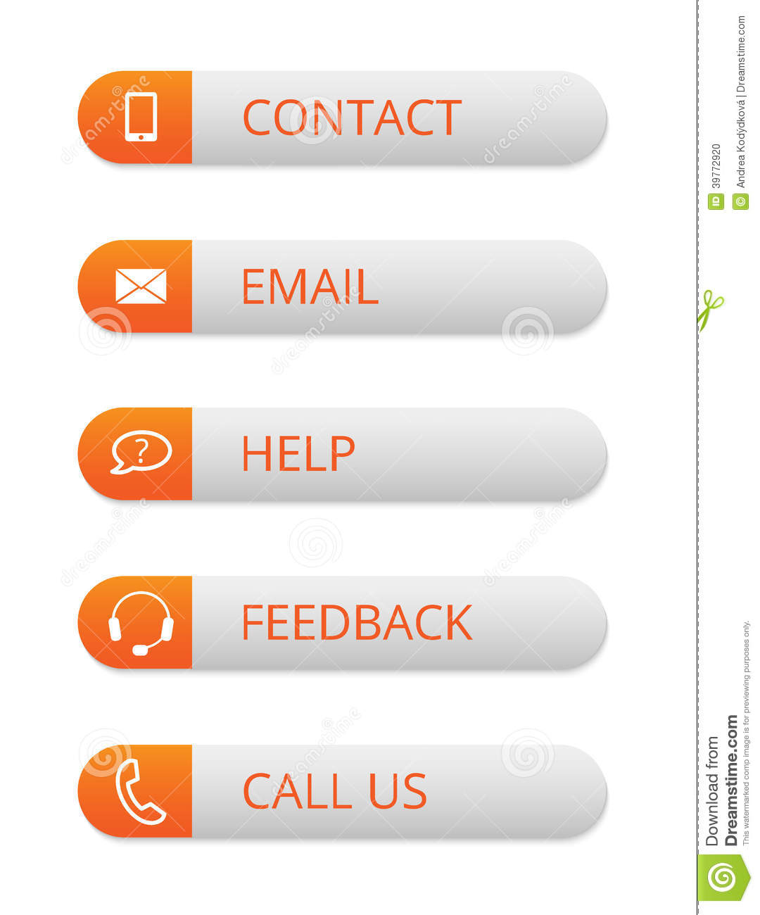 Contact Buttons For Pictures 69