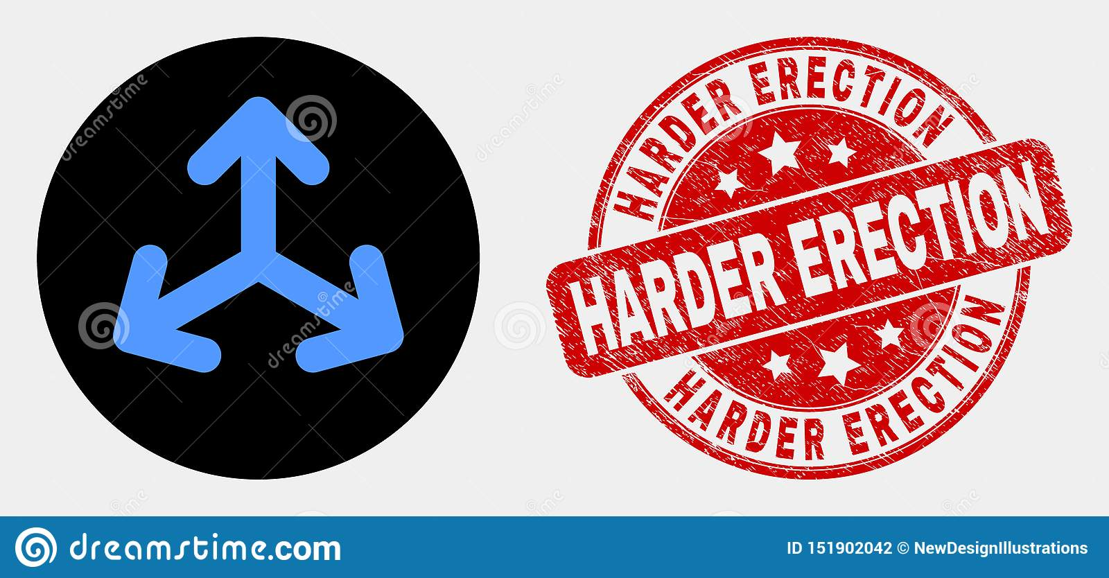 Vector Expand Arrows Icon And Scratched Harder Erection