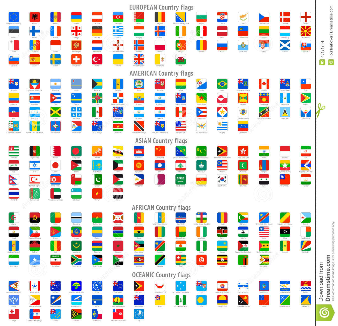 Rounded square vector national flag icons stock vector rounded square vector national flag icons gumiabroncs Images