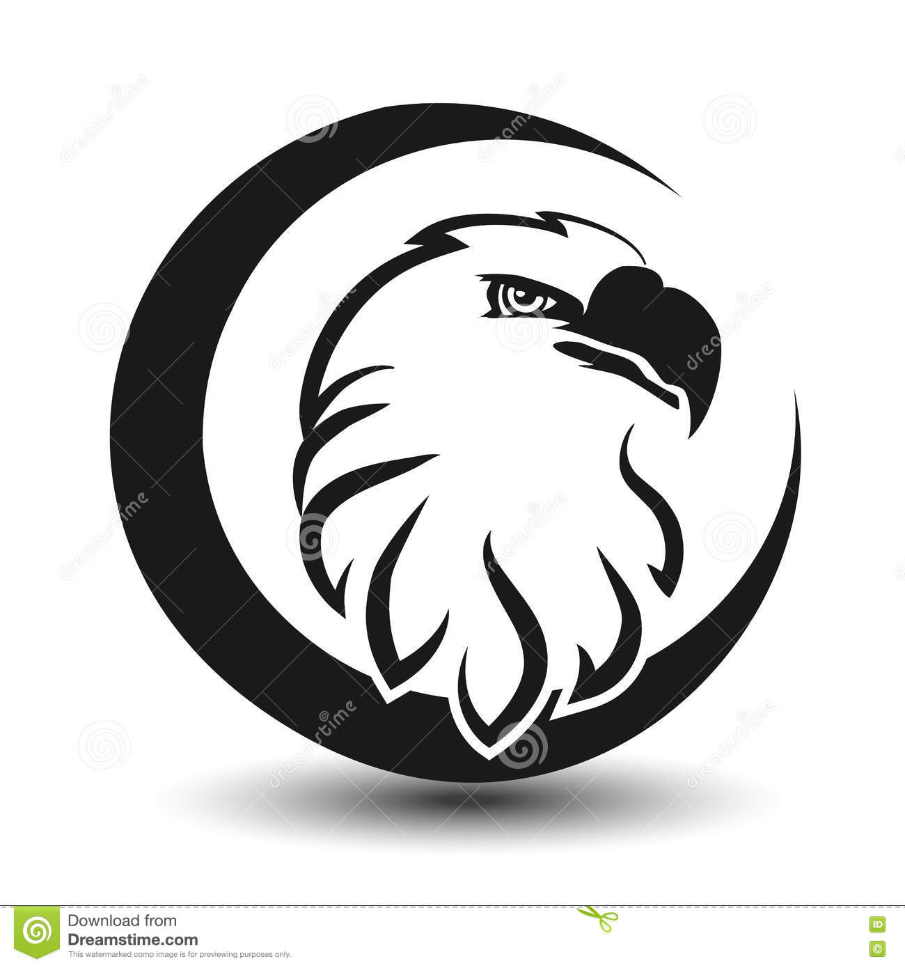 Rounded symbol of eagle black sketch head stock vector rounded symbol of eagle black sketch head biocorpaavc Images