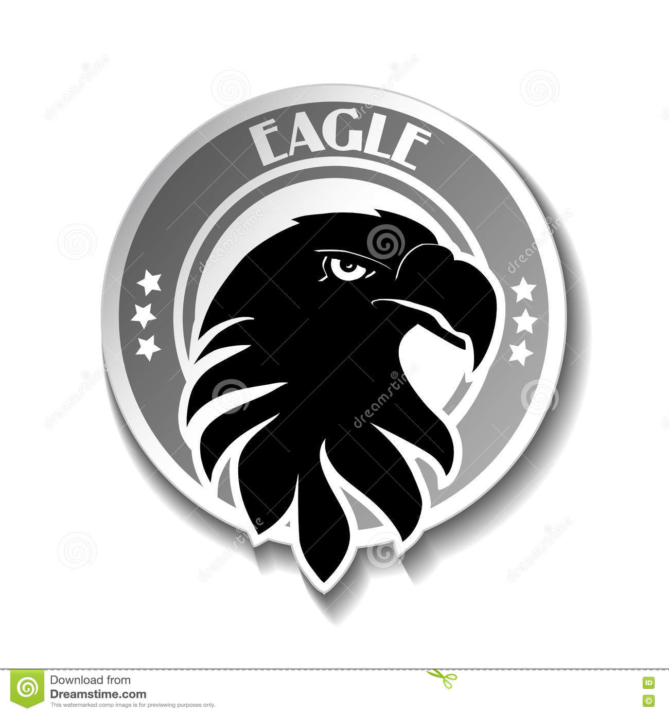 Rounded symbol of eagle black sketch head stock vector rounded symbol of eagle black sketch head flying american biocorpaavc Images