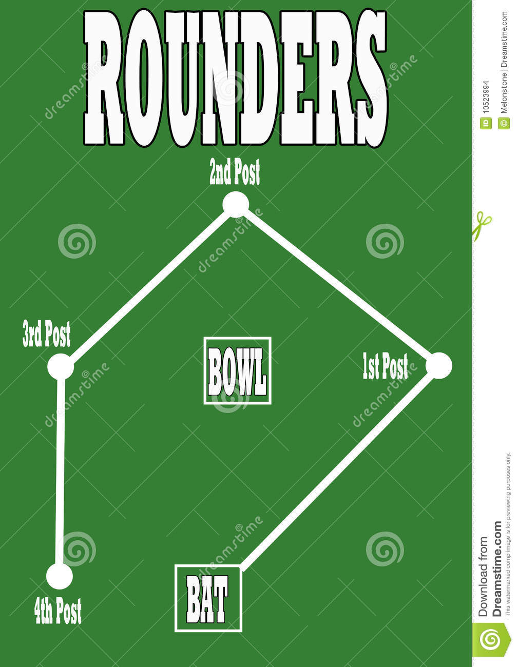 Rounders Pitch Stock Images - Image: 10523994