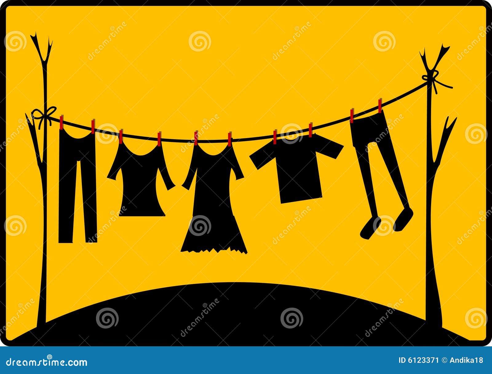 Roupa de secagem