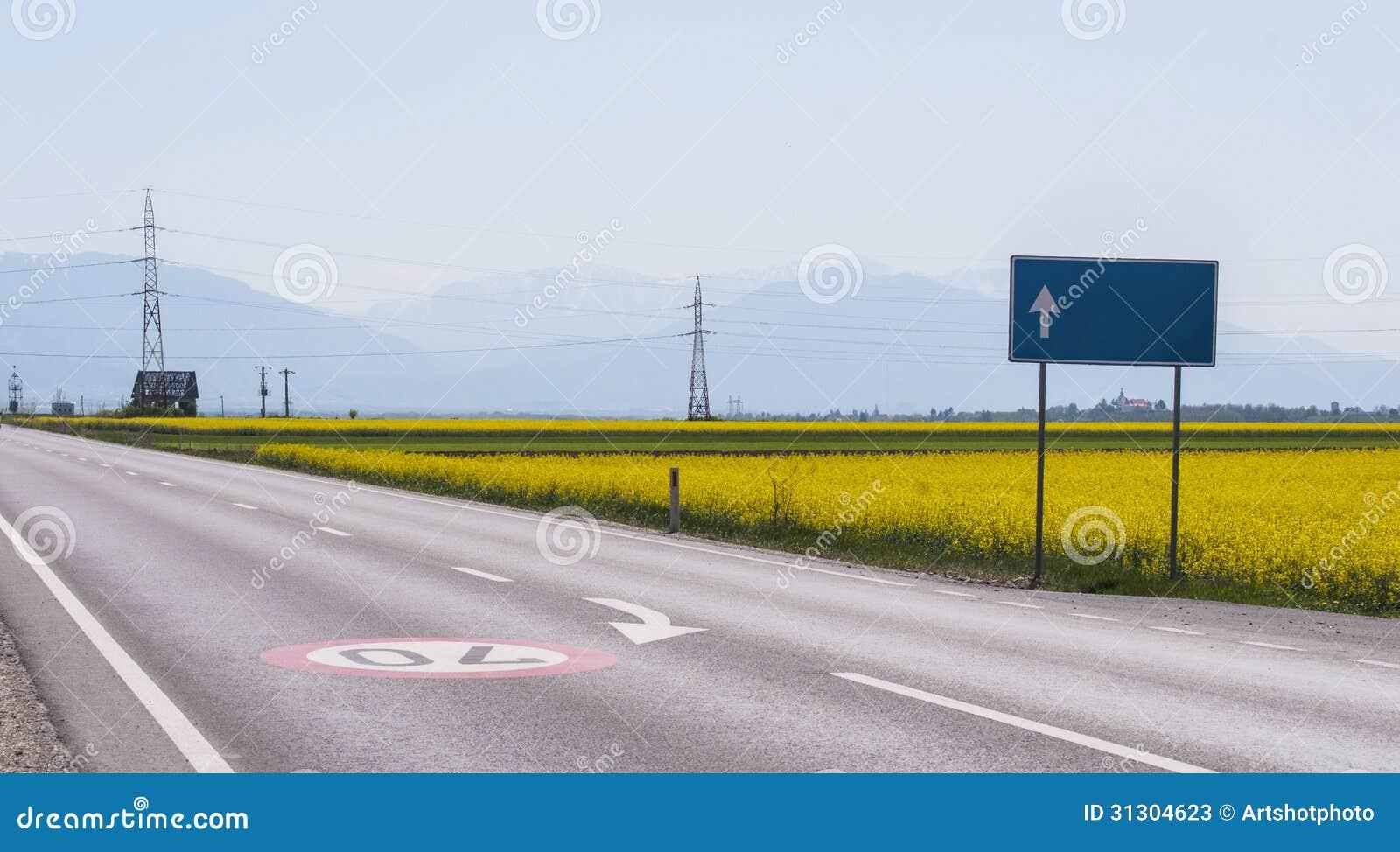 Route abandonnée