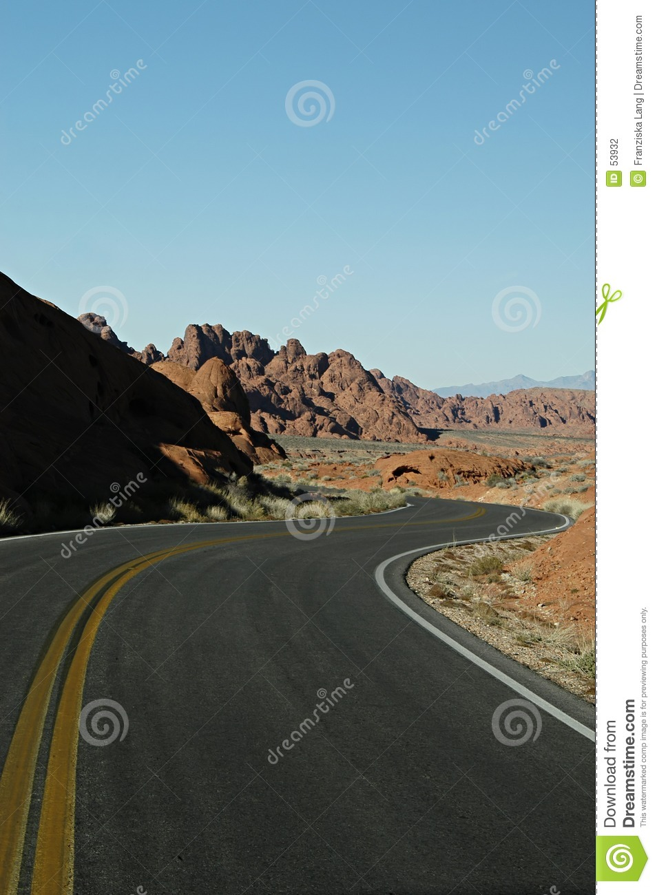 Download Route Curvey photo stock. Image du national, omnibus, circulation - 53932