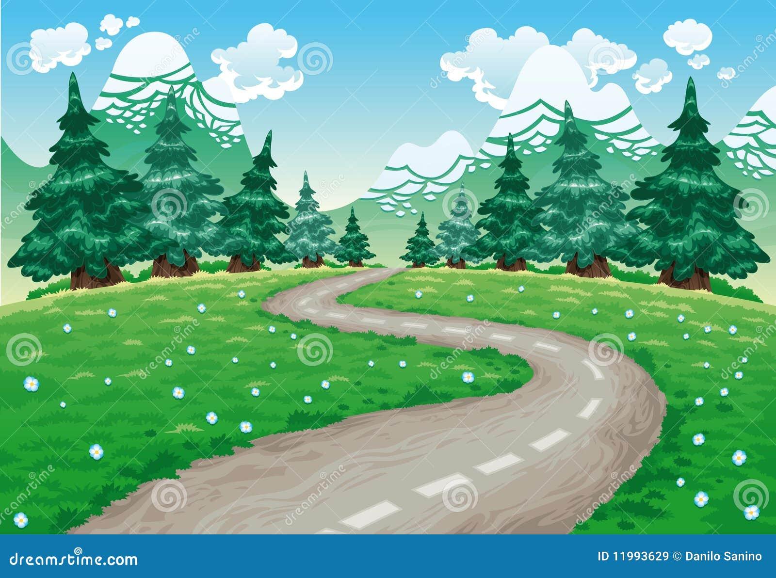 Route d 39 enroulement dans la campagne illustration de - Dessin de route ...