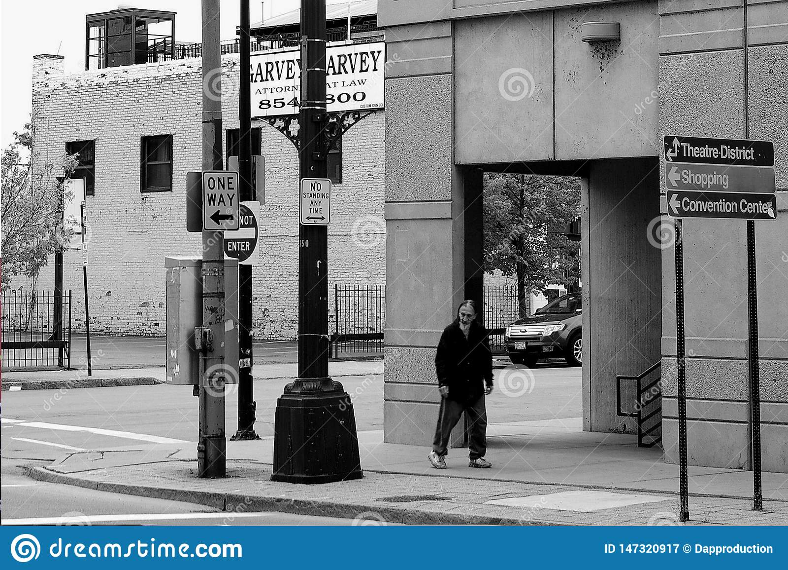 Route de Buffalo avec le sans-abri à Buffalo NY