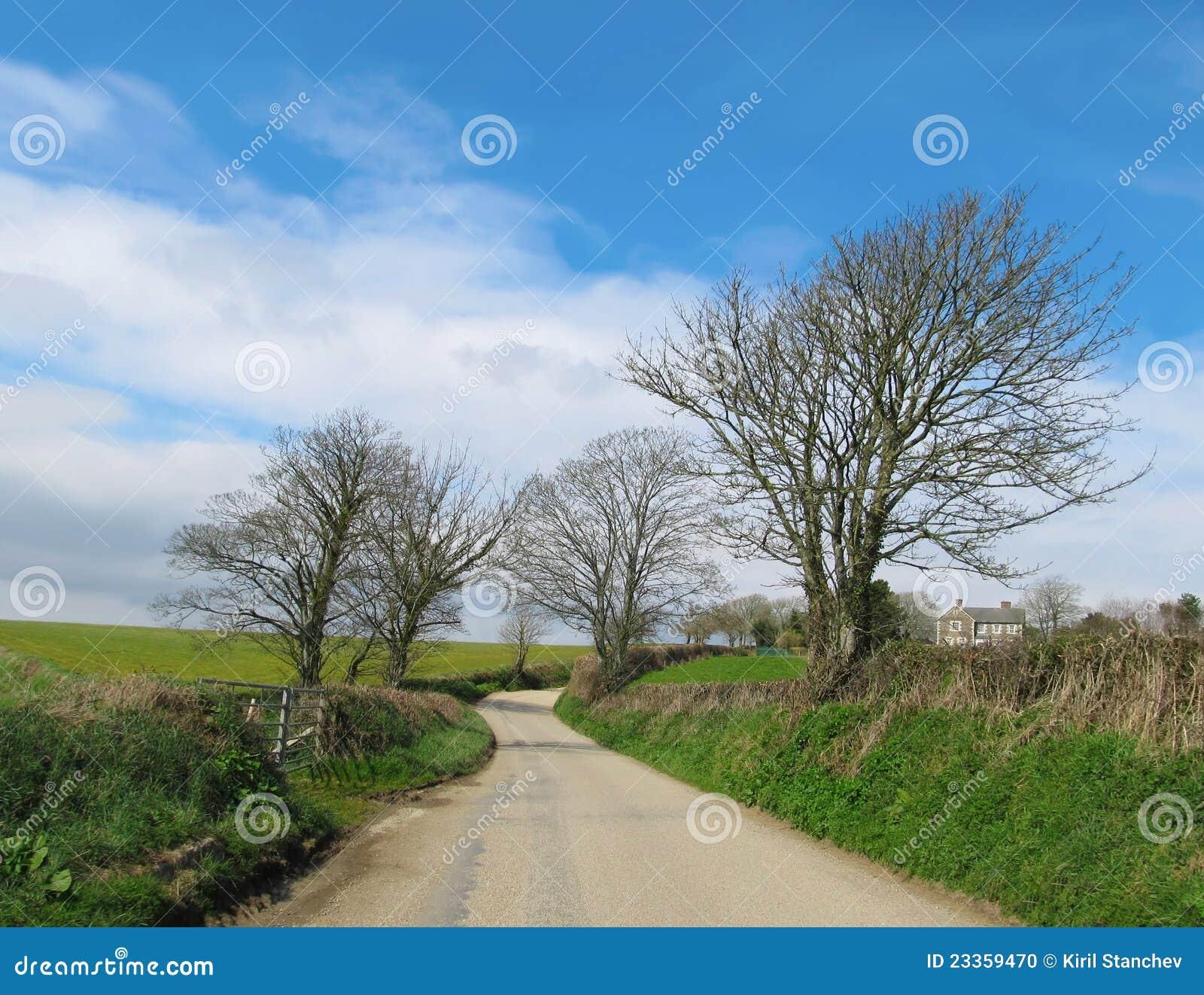 Route de campagne anglaise dans cornouailles photo stock for Photo campagne anglaise