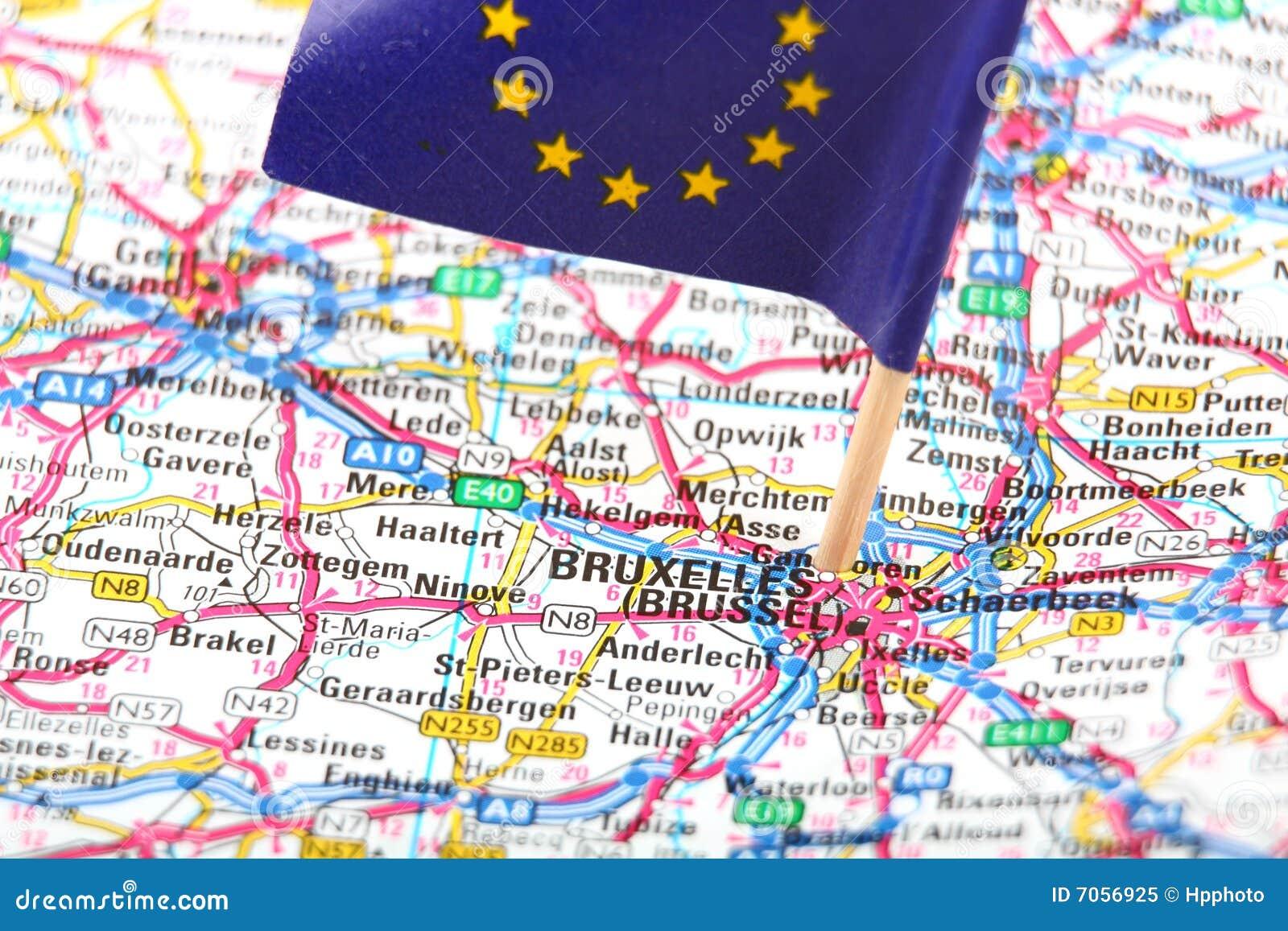 Carte N26 Belgique.Route De Carte De La Belgique Bruxelles Image Stock Image Du