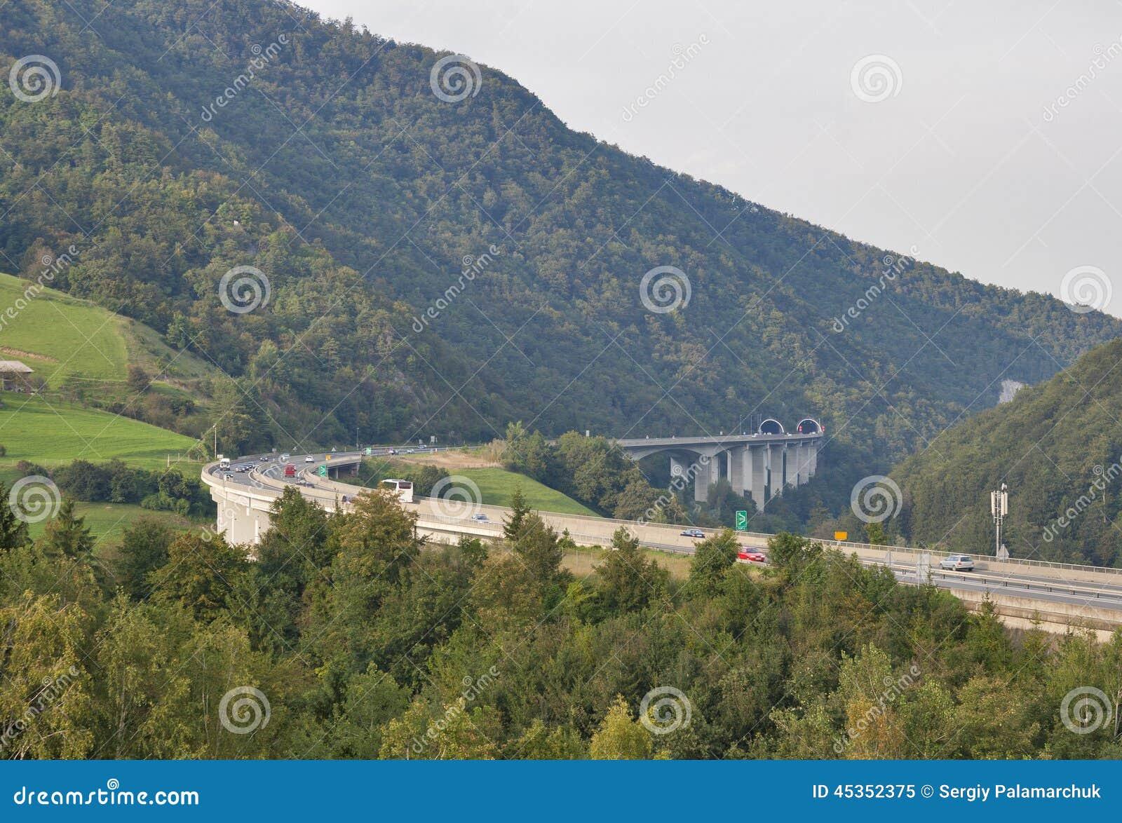 Route de montagne de la Slovénie