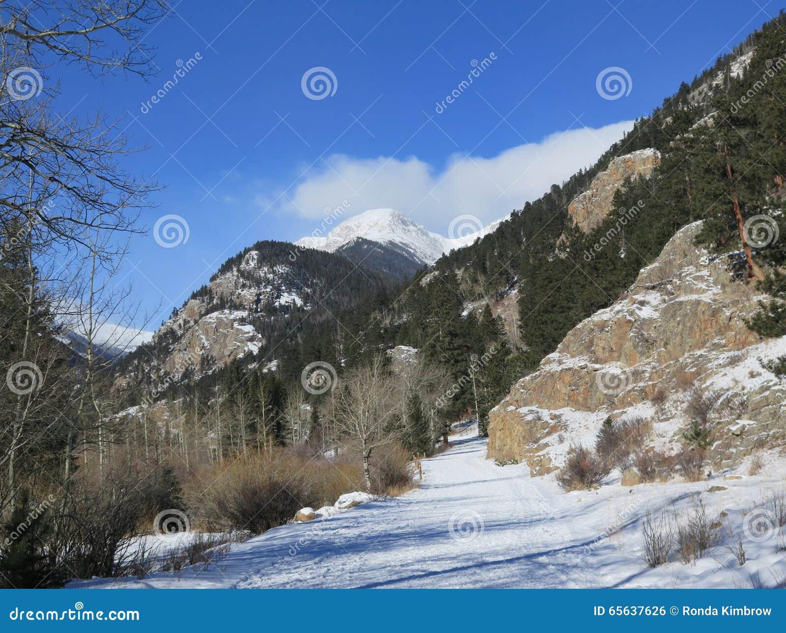 Route de Rocky Mountain National Park Winter