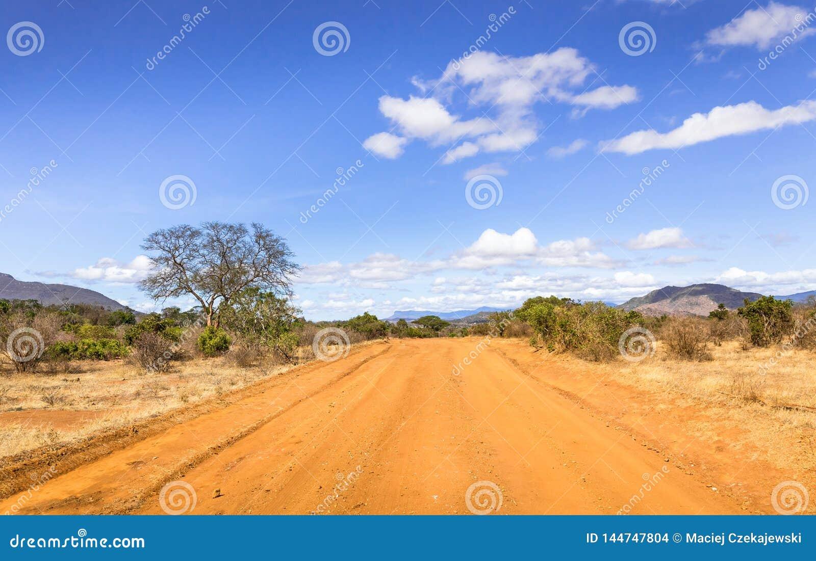 Route de safari au Kenya