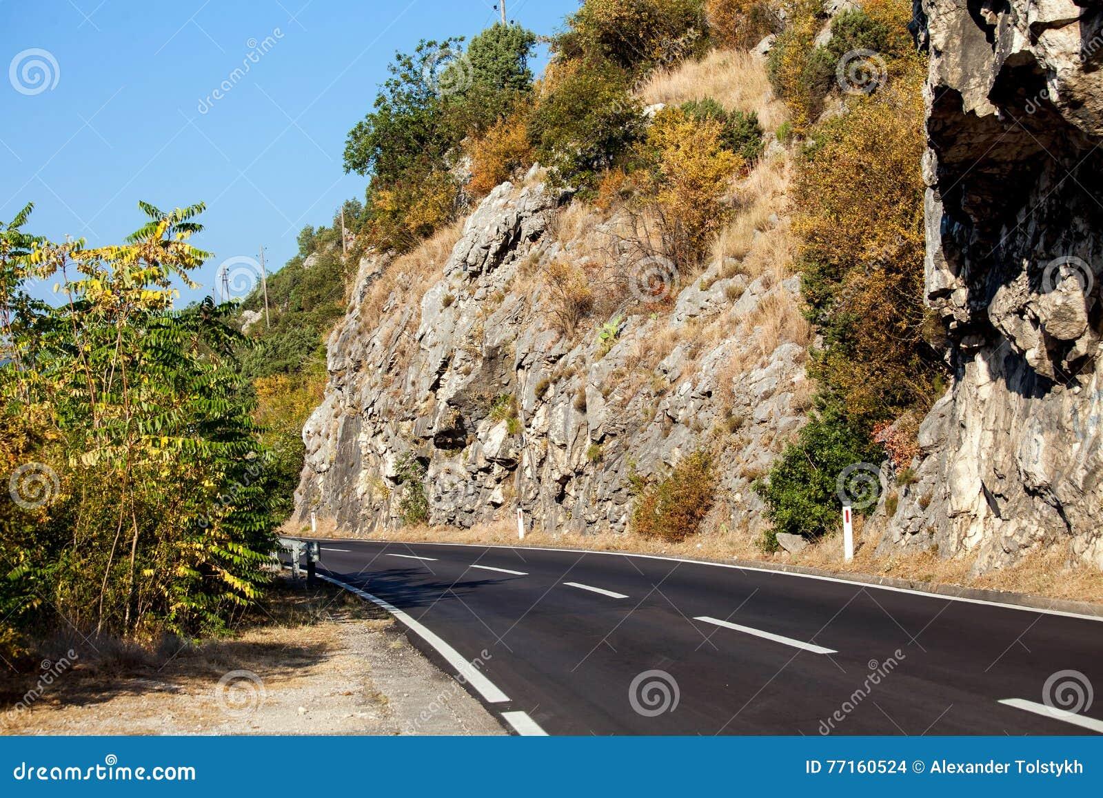 Route en montagnes