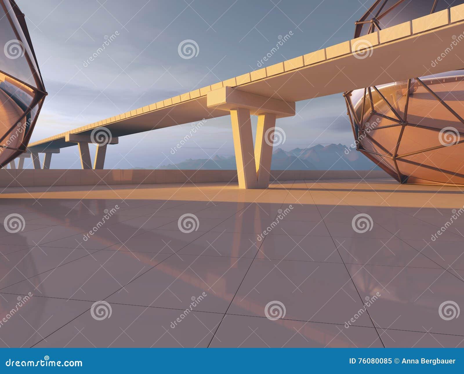 Route et route de pont