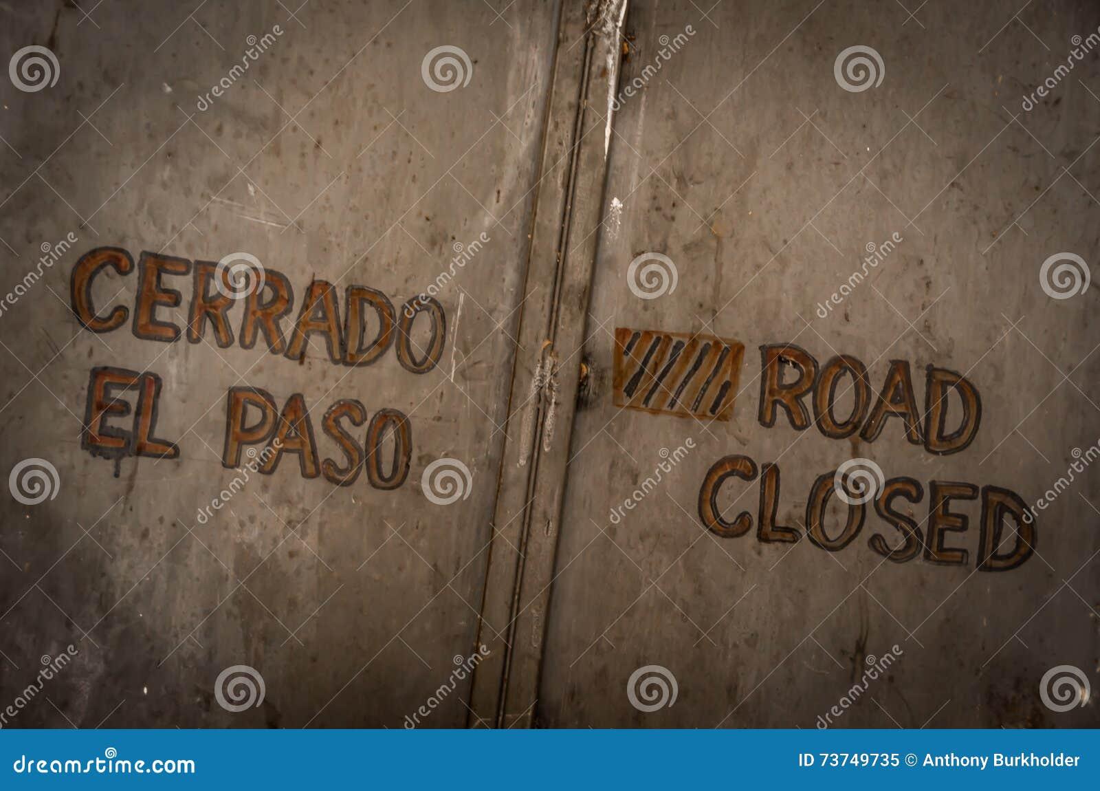 Route fermée
