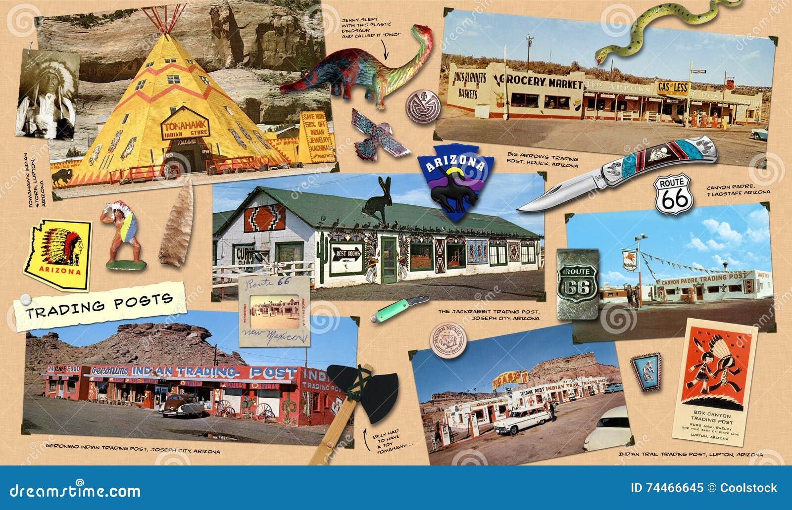 Route 66 handelstolpar