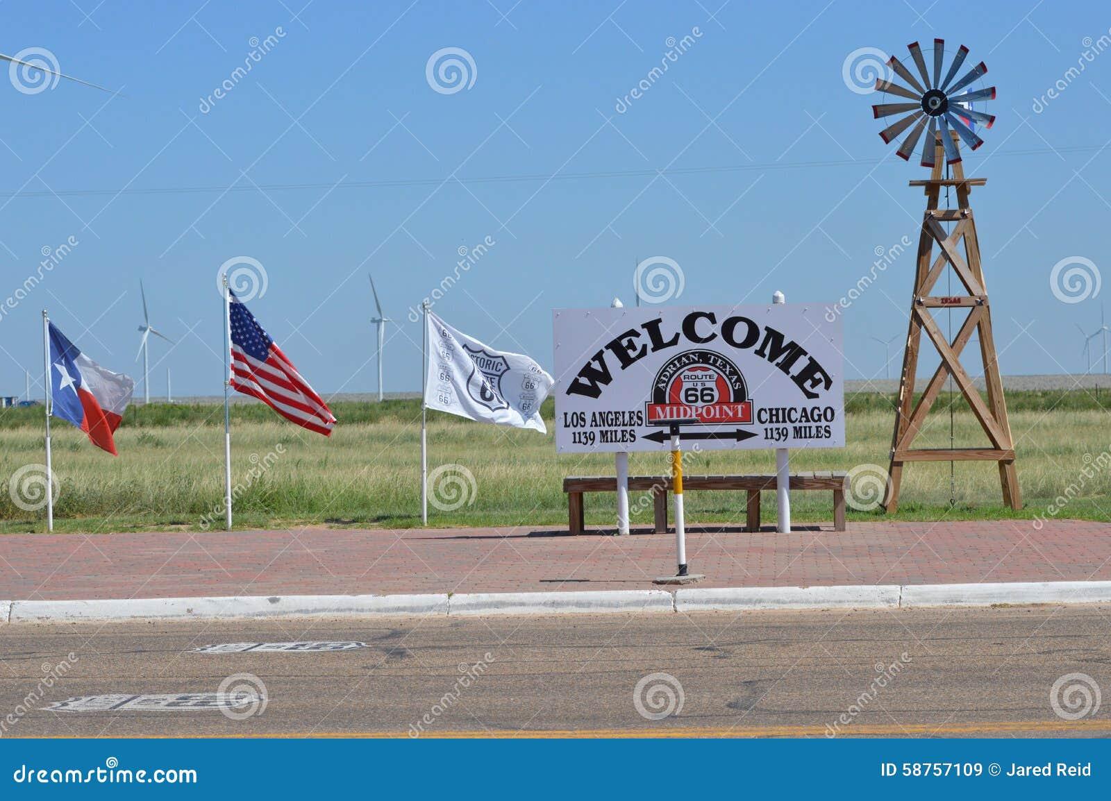 Route 66 -Mittelpunkt