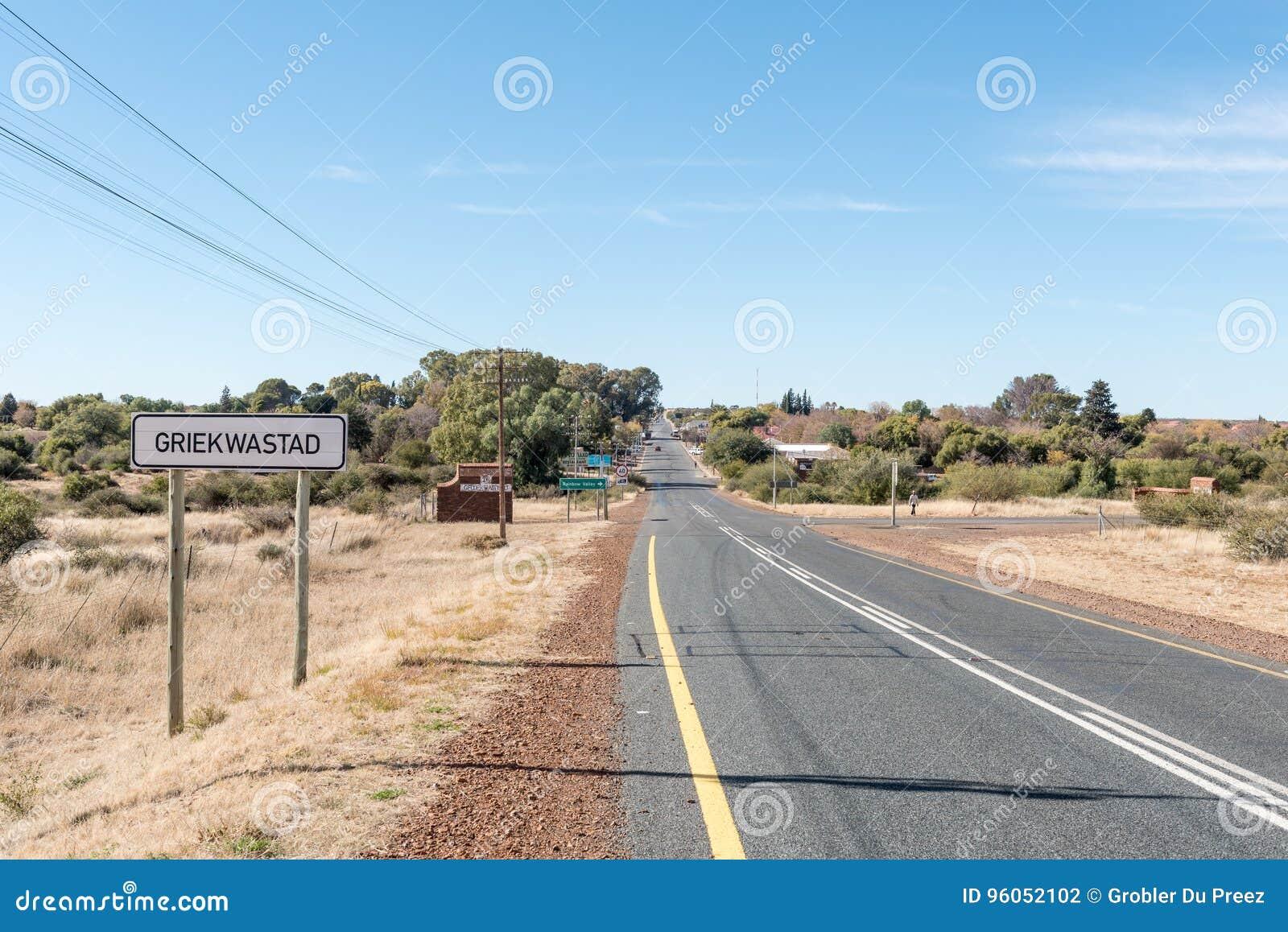 Route N8 passant par Griekwastad