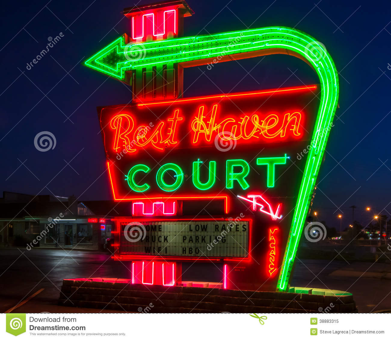 Route 66 Rest Haven Court Springfield Mo Editorial