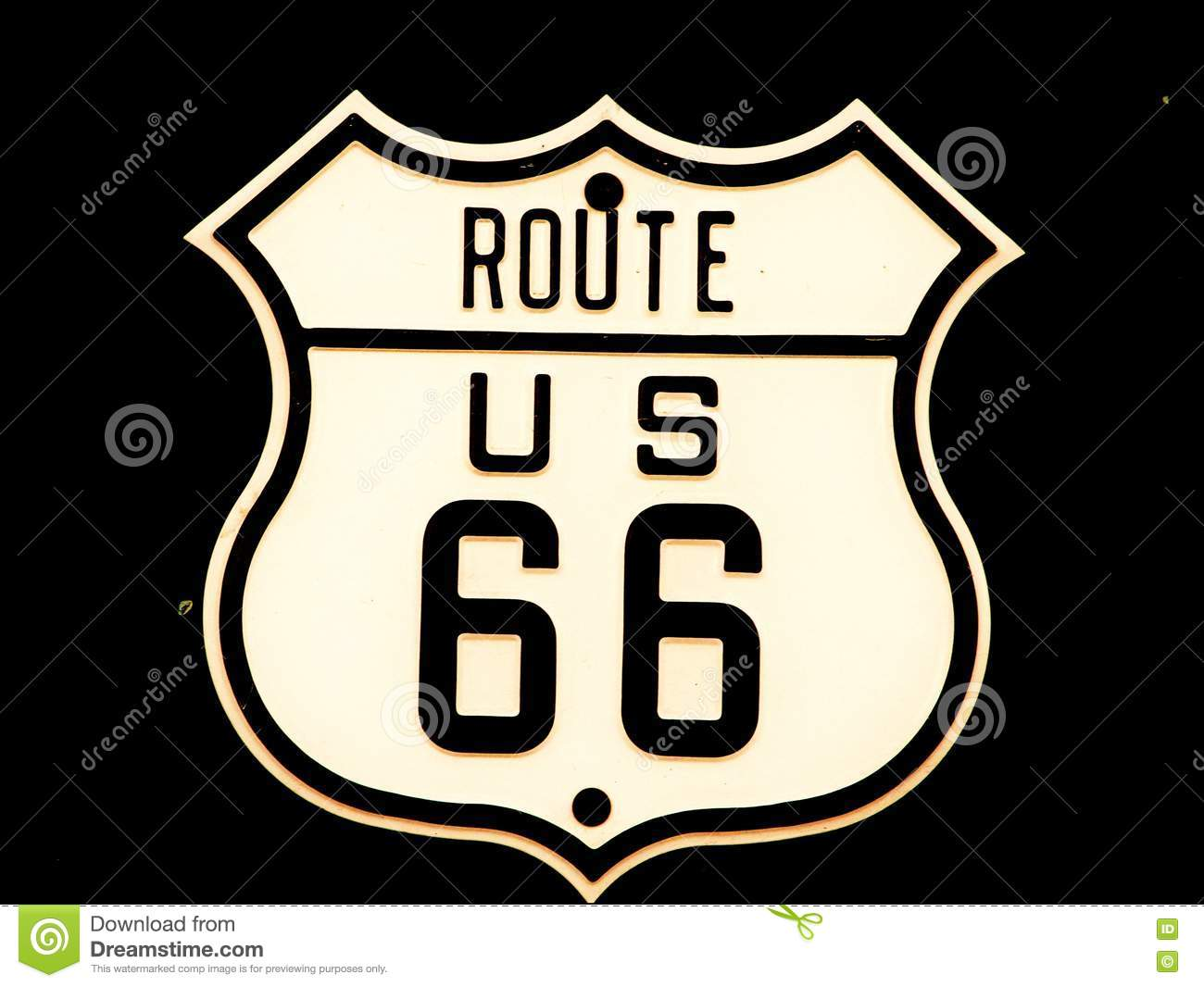 Route66 road sign