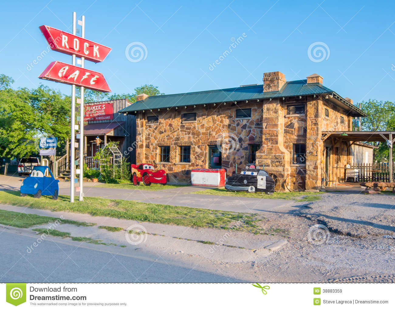 Southwest Home Plans Route 66 Rock Cafe Stroud Ok Editorial Stock Image
