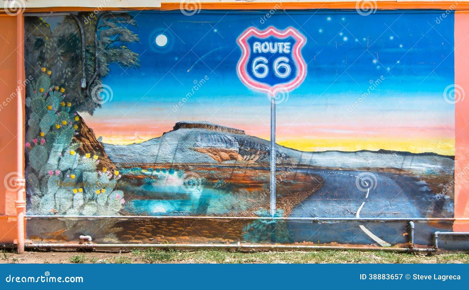 Route 66 route 66 mural tucumcari nm editorial for Route 66 mural
