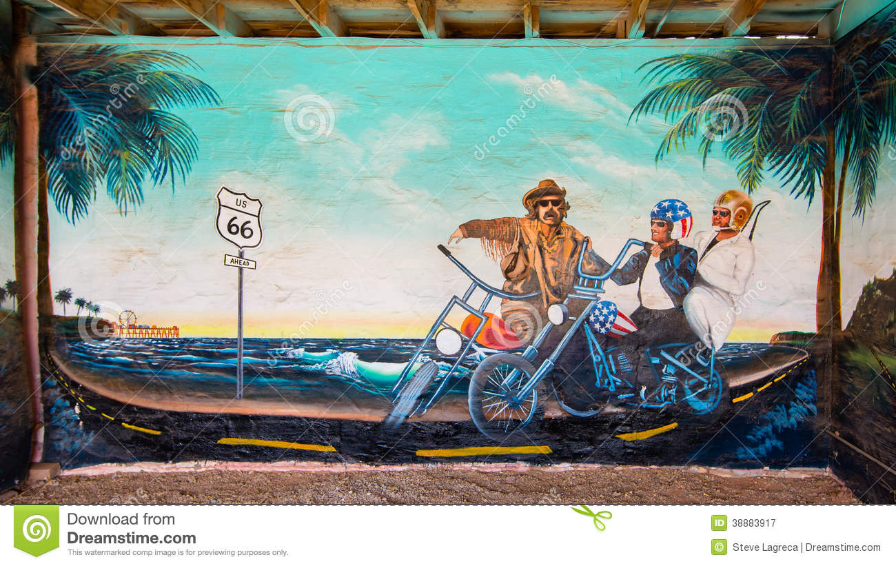 Route 66 editorial photography image 38883917 for Aztec mural painting